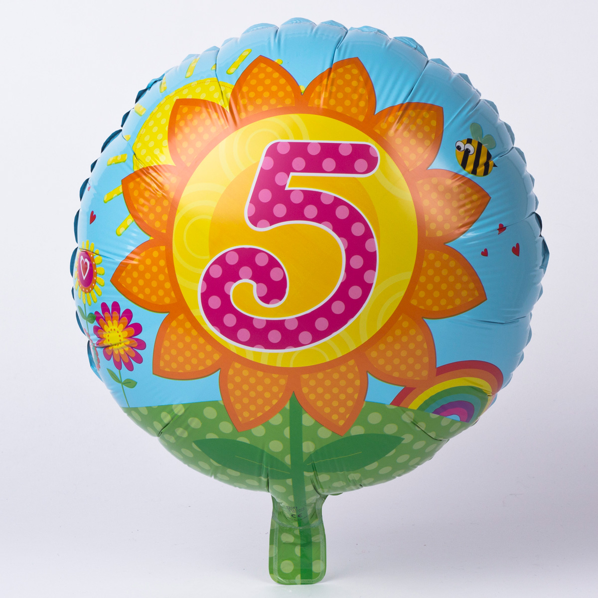 Sunflower Age 5 Foil Helium Balloon