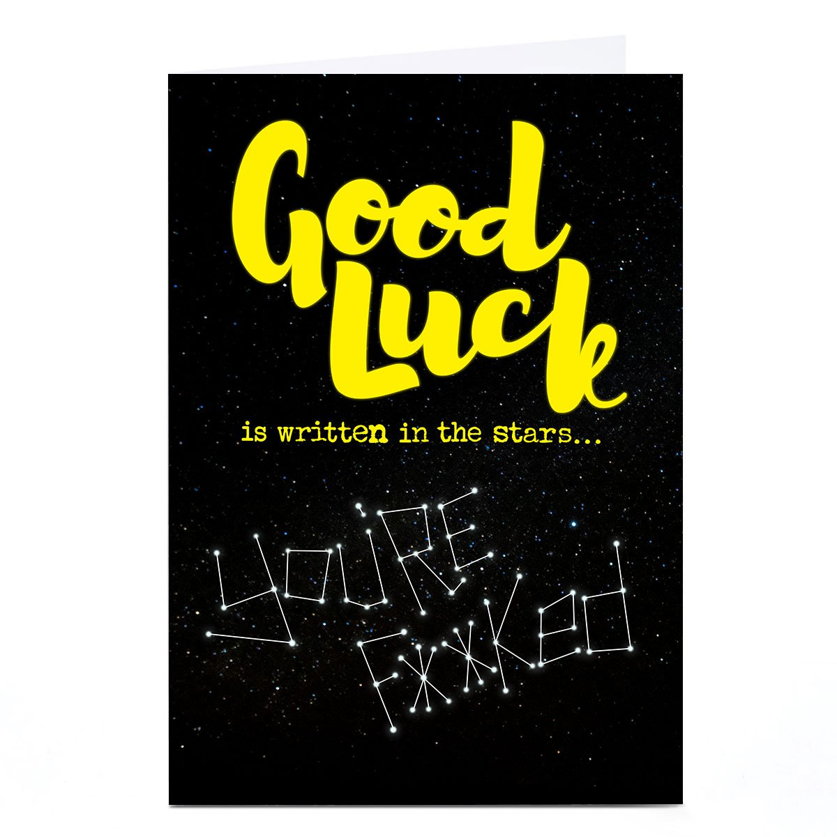 Personalised PG Quips Good Luck Card - Written In The Stars…