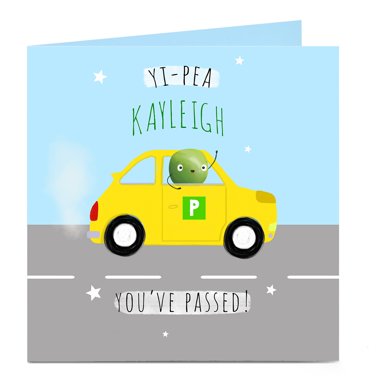 Personalised Congratulations Card - Yi-Pea You Passed