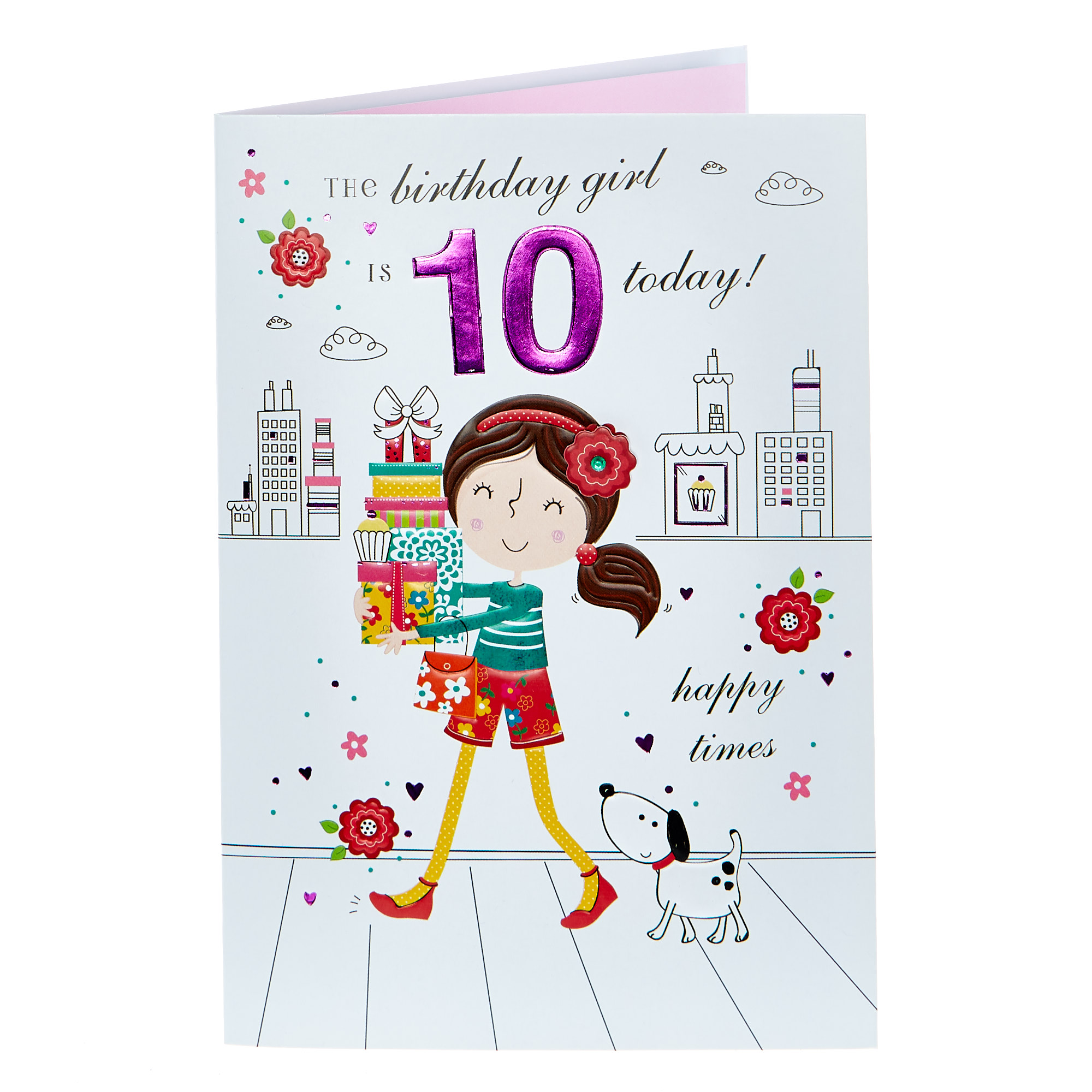 buy 10th birthday card  happy times for gbp 079  card