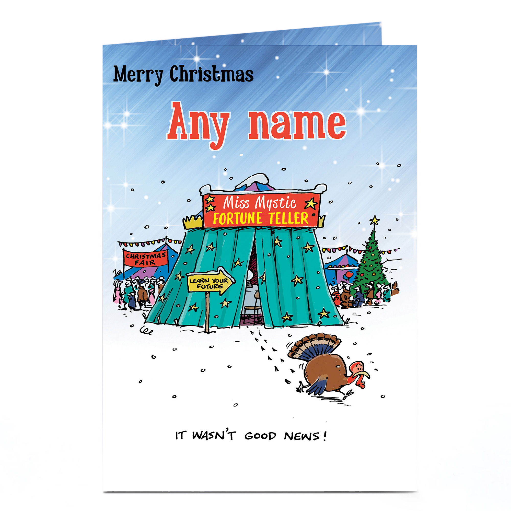 Personalised Christmas Card - Fortune Teller
