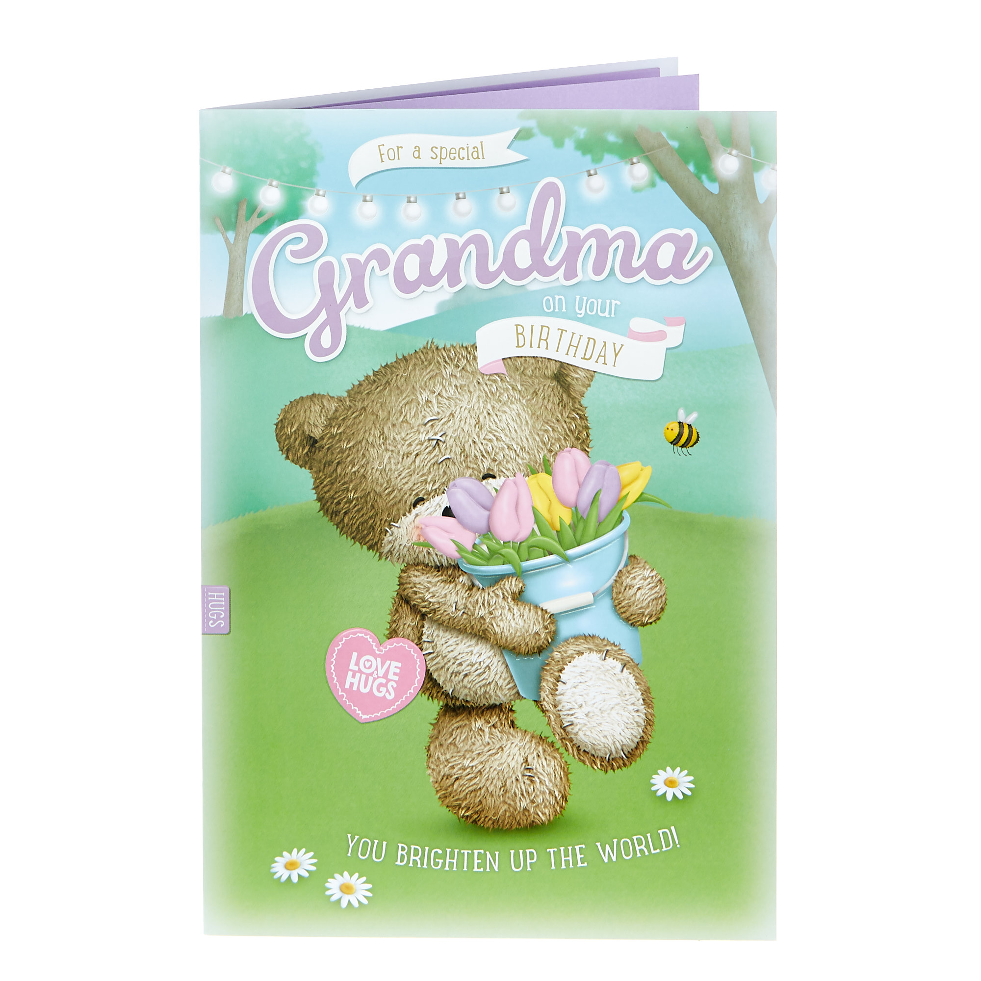 Hugs Bear Birthday Card - For A Special Grandma