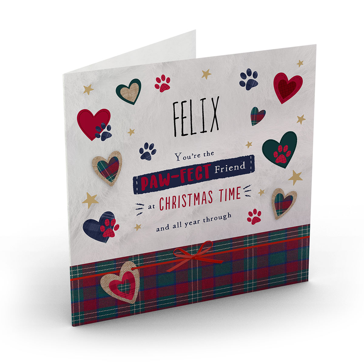 Personalised Christmas Card - Paw-Fect Friend