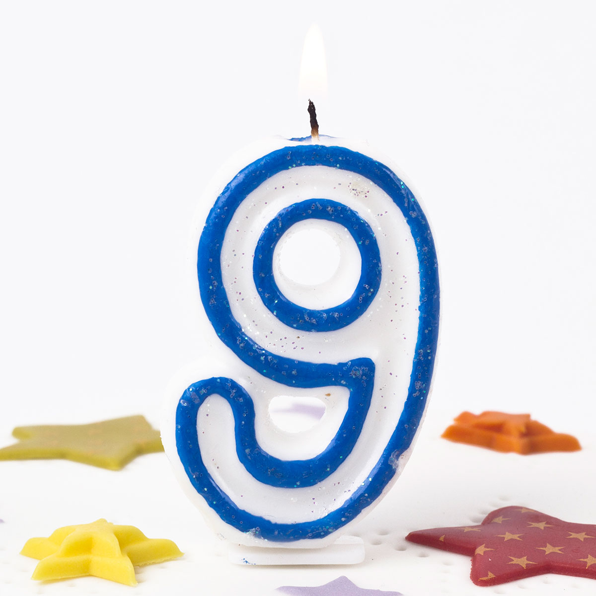 Blue Number 9 Birthday Candle 4786