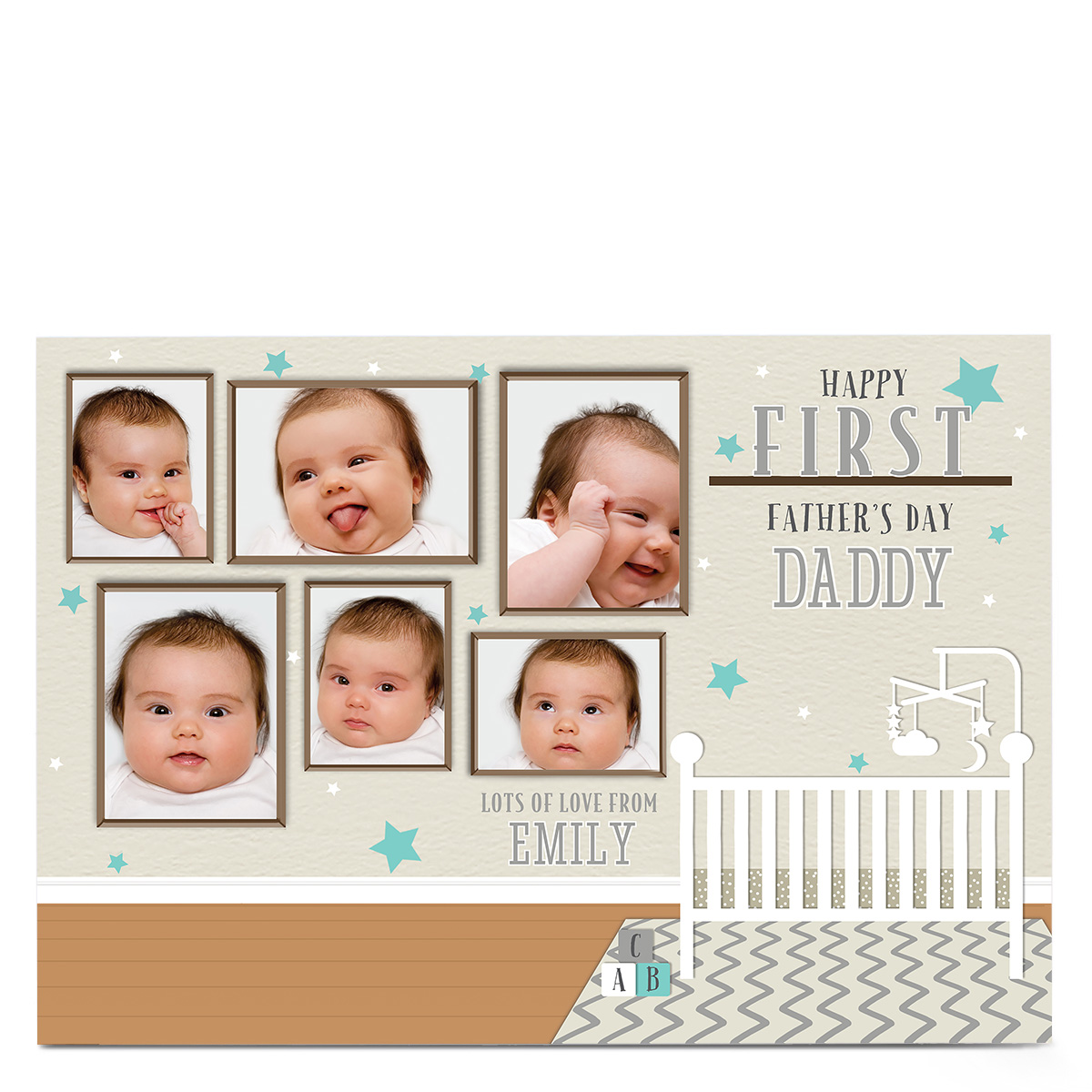 Photo Father's Day Card - First Father's Day Nursery