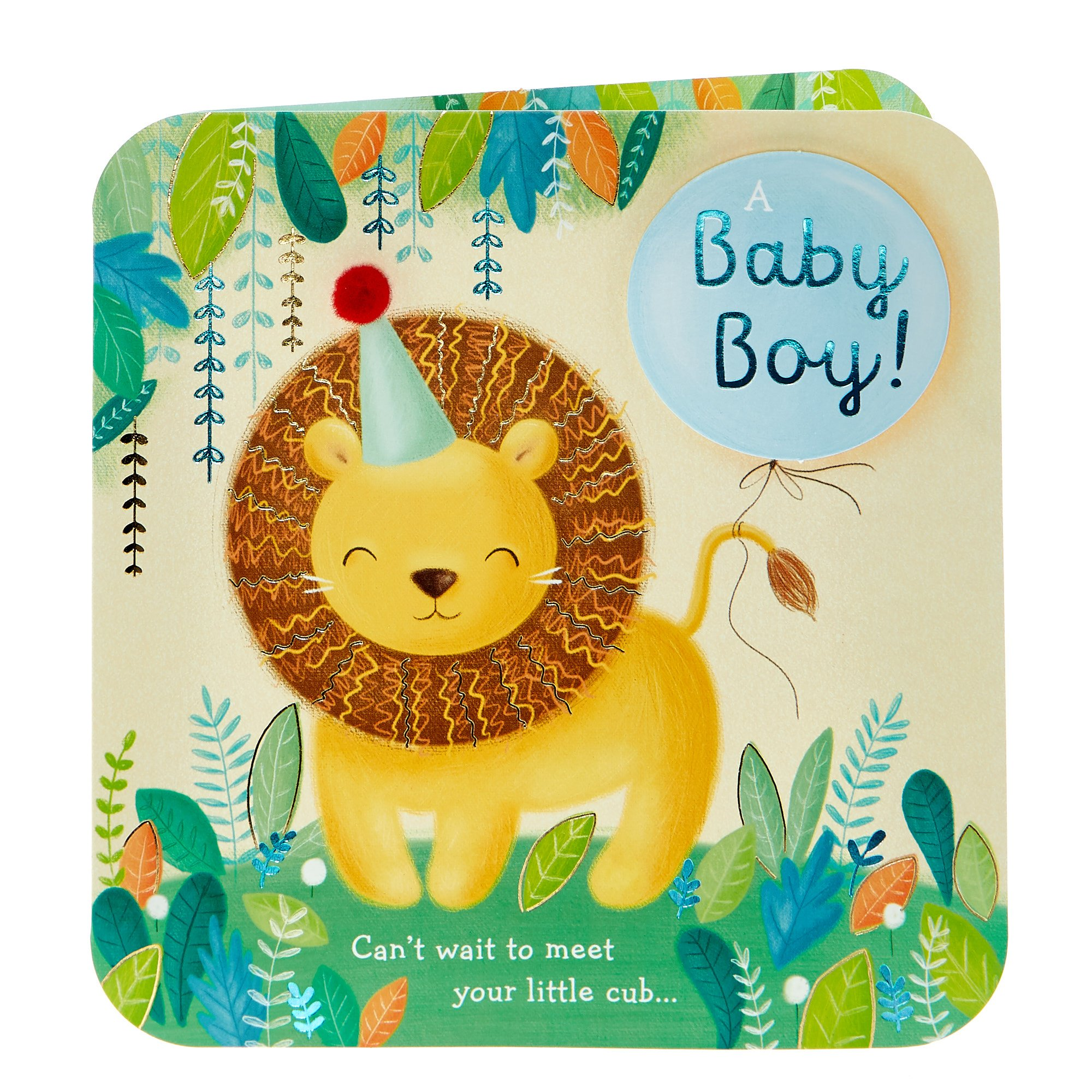 Boutique Collection New Baby Card - A Baby Boy