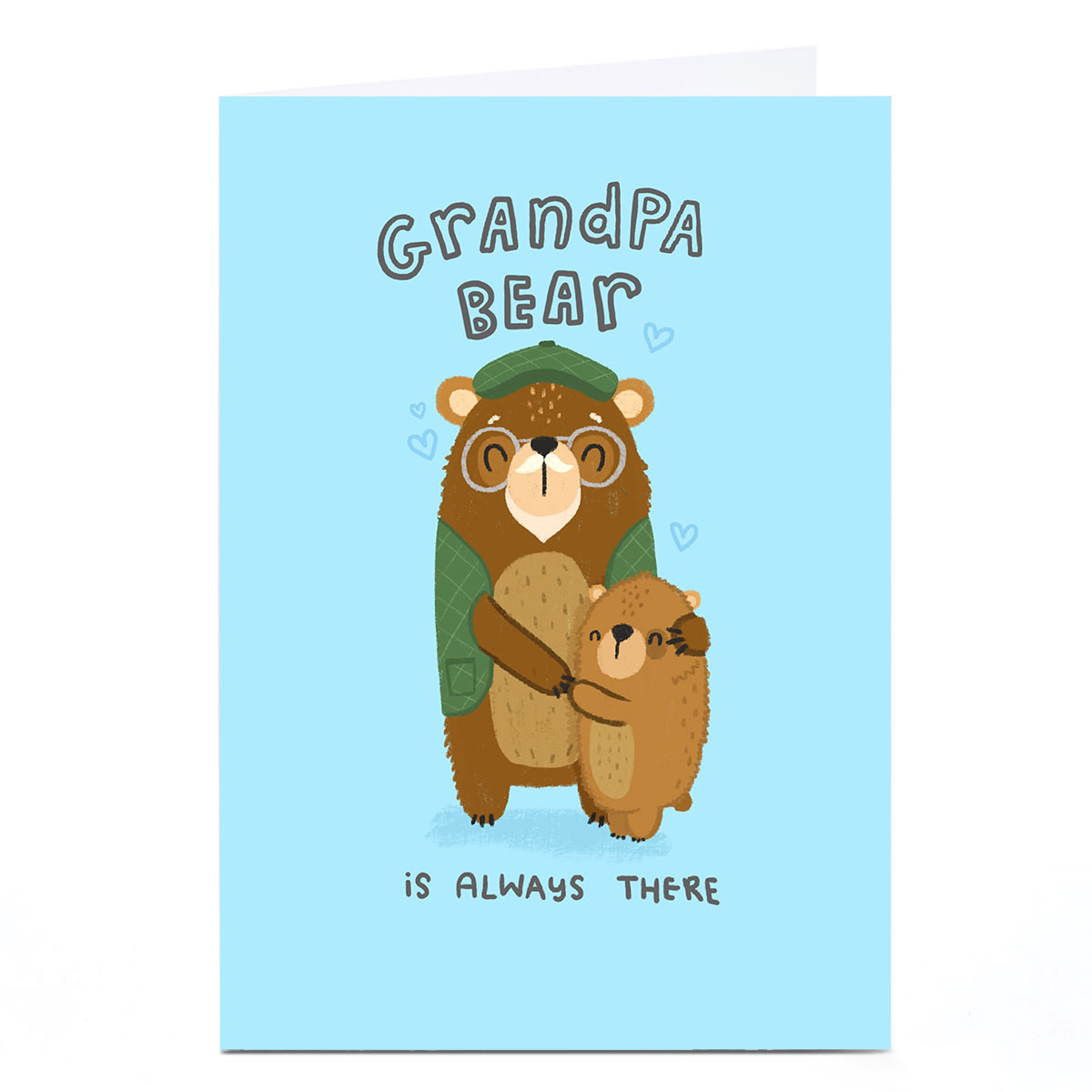 Personalised Blue Kiwi Father's Day Card - Grandpa Bear
