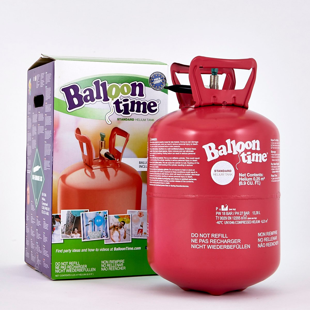 Helium Gas Canister - Fills Up To 30 Balloons*