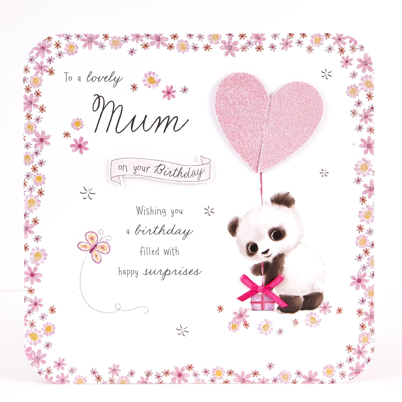 buy exquisite collection birthday card  mum panda for gbp