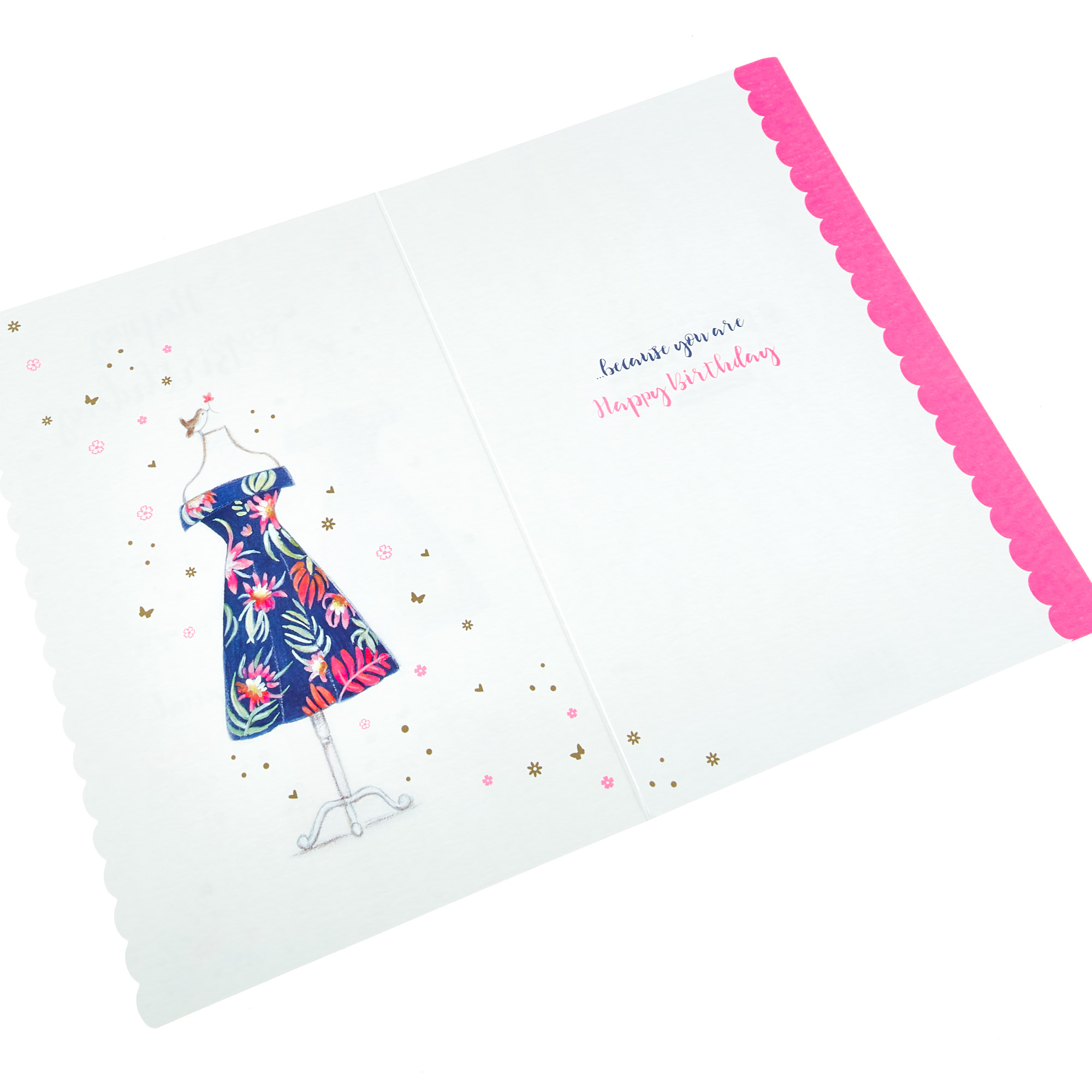 Personalised Thank You Card - Butterflies