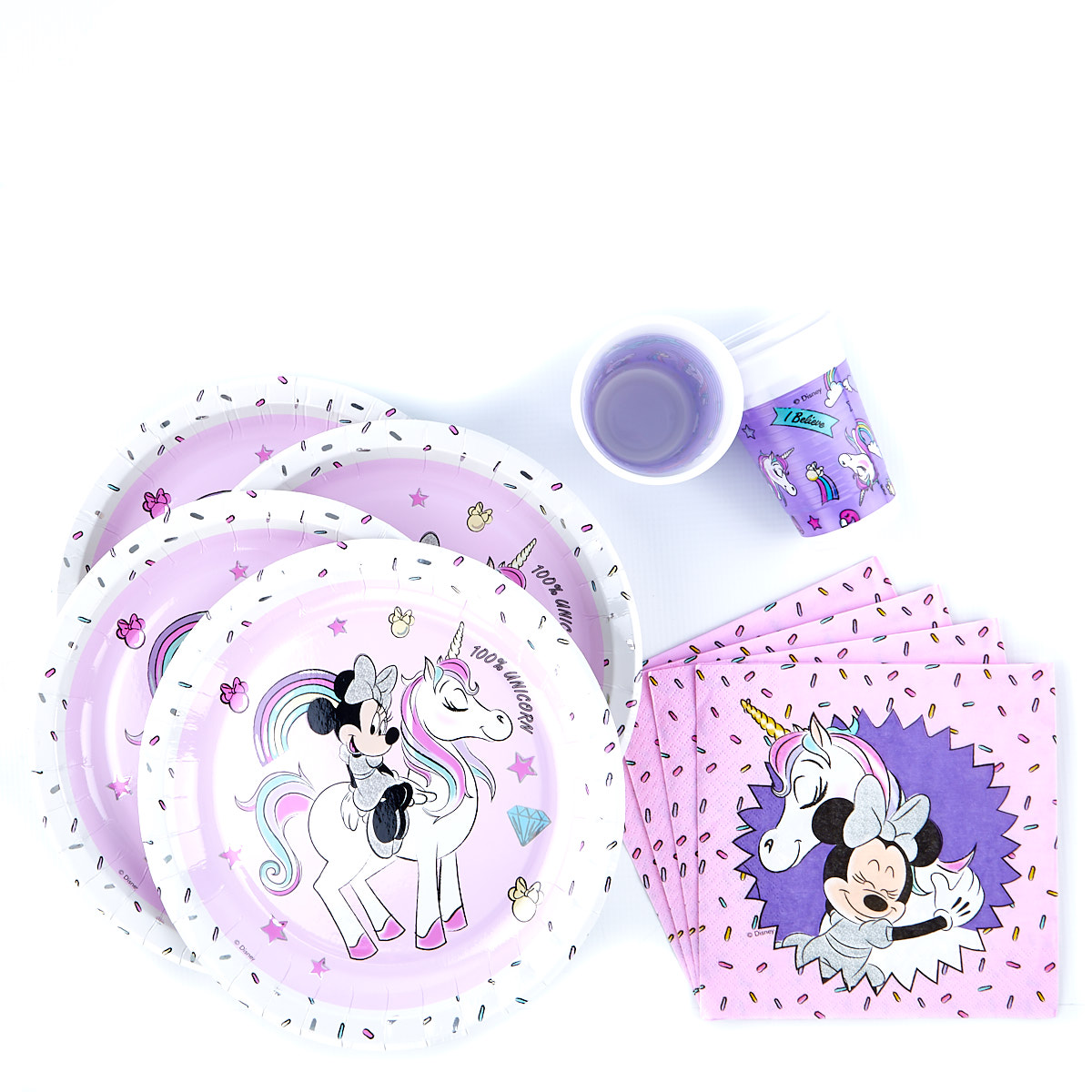 buy minnie mouse  unicorn party tableware bundle  36