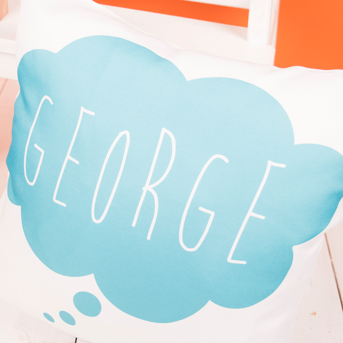 Personalised Blue Cloud Cushion