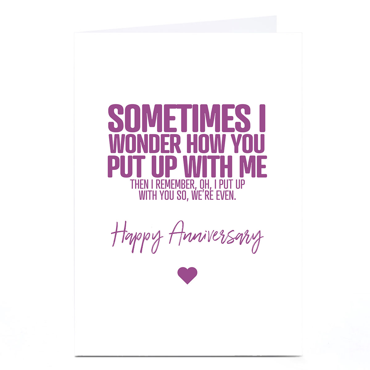 Personalised Punk Cards Anniversary Card - Sometimes I Wonder