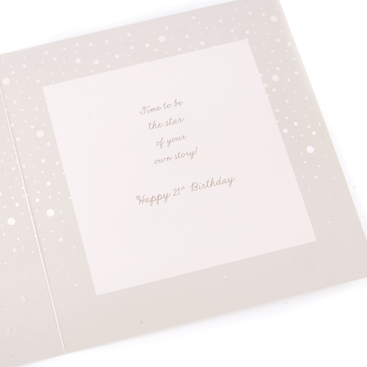 Platinum Collection 21st Birthday Card - You're Beautiful That Way