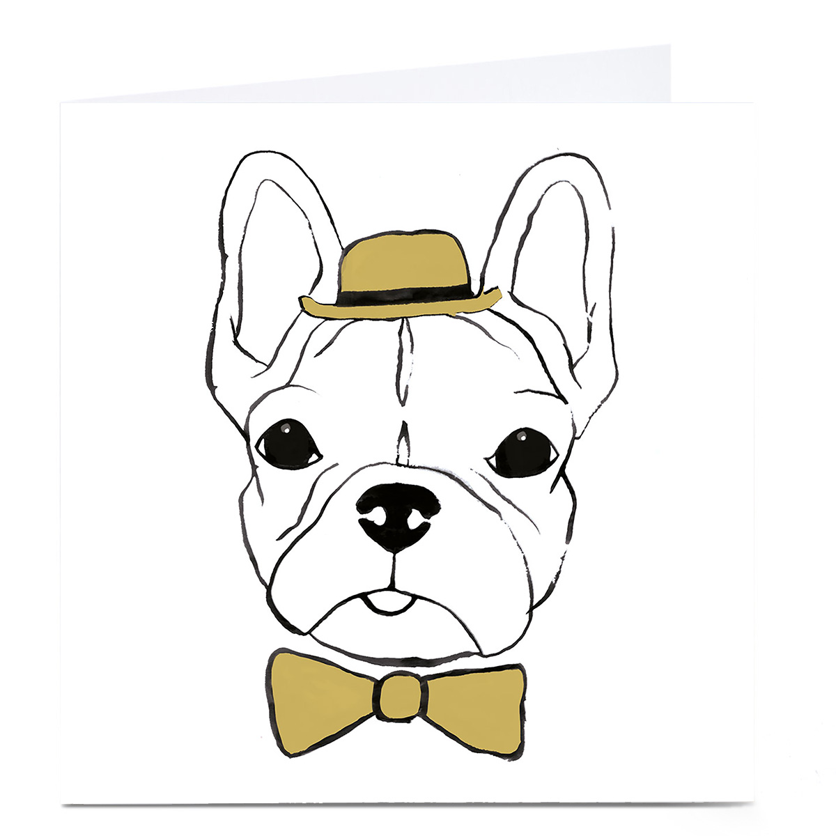 Personalised Bright Ideas Card - French Bulldog