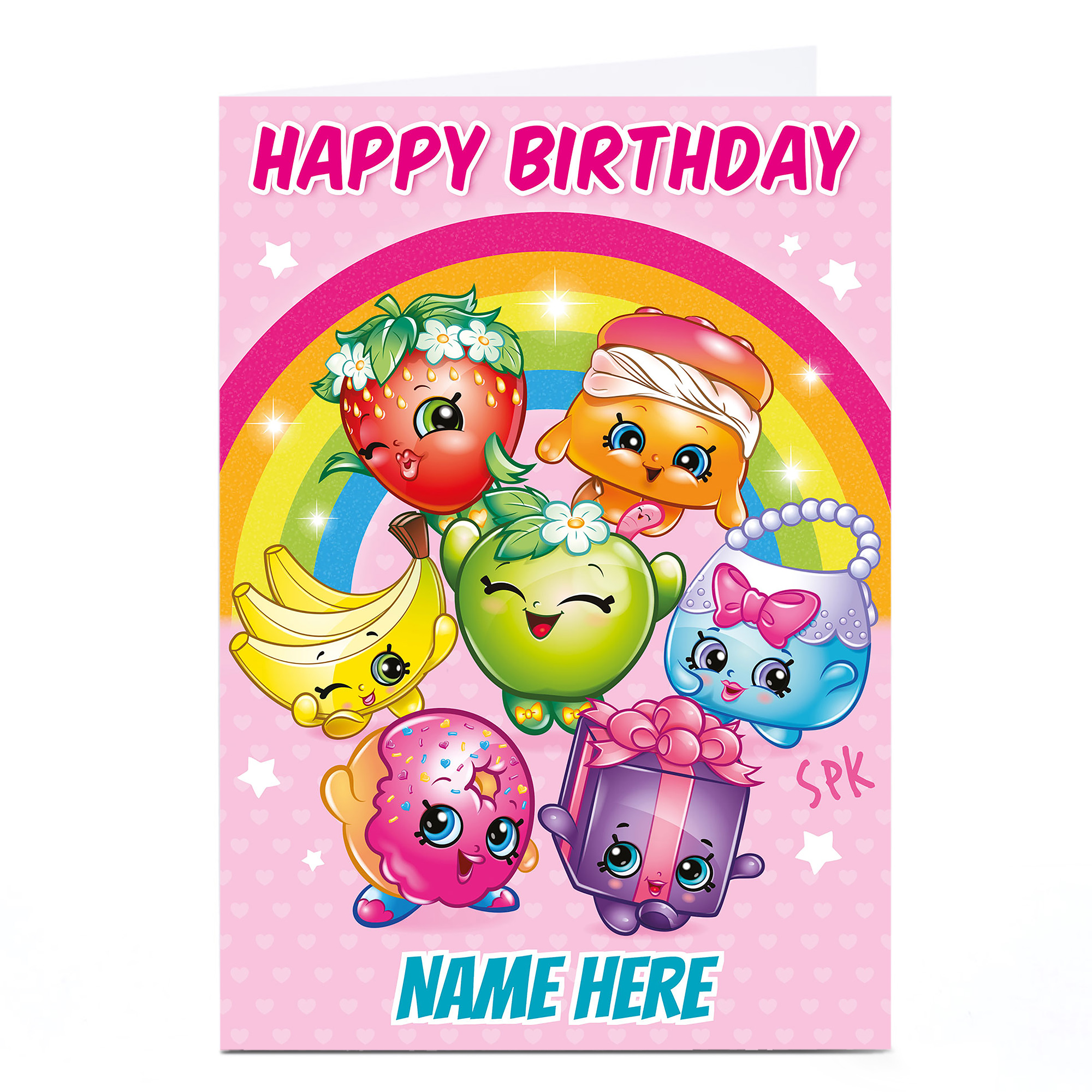 Personalised Shopkins Card - Happy Birthday