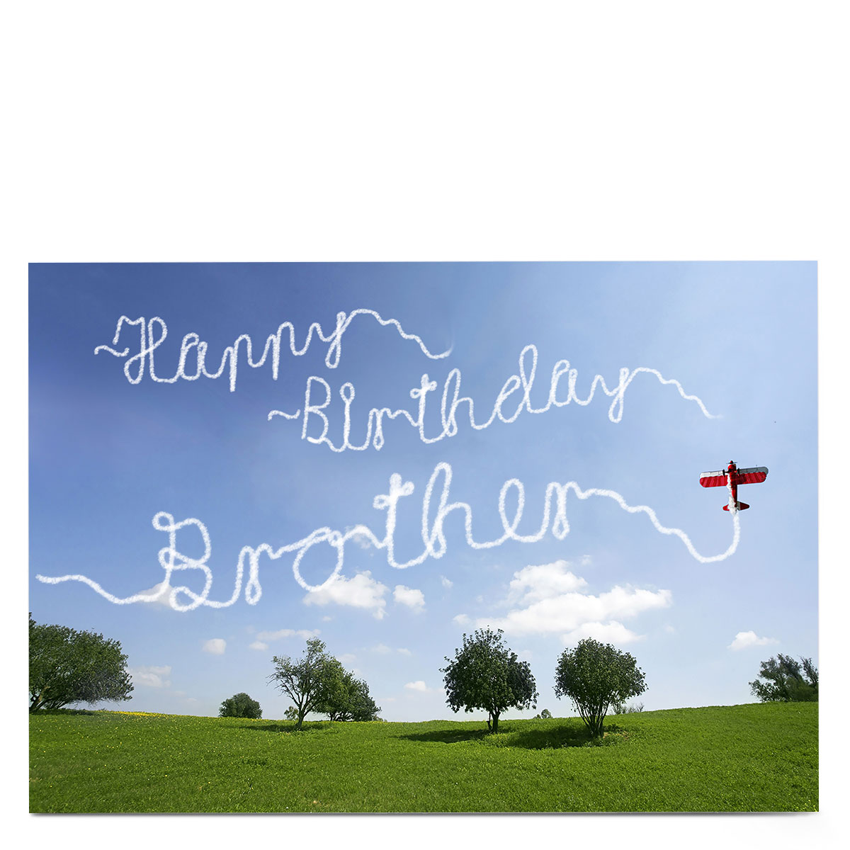 Personalised Birthday Card - Plane Message, Brother