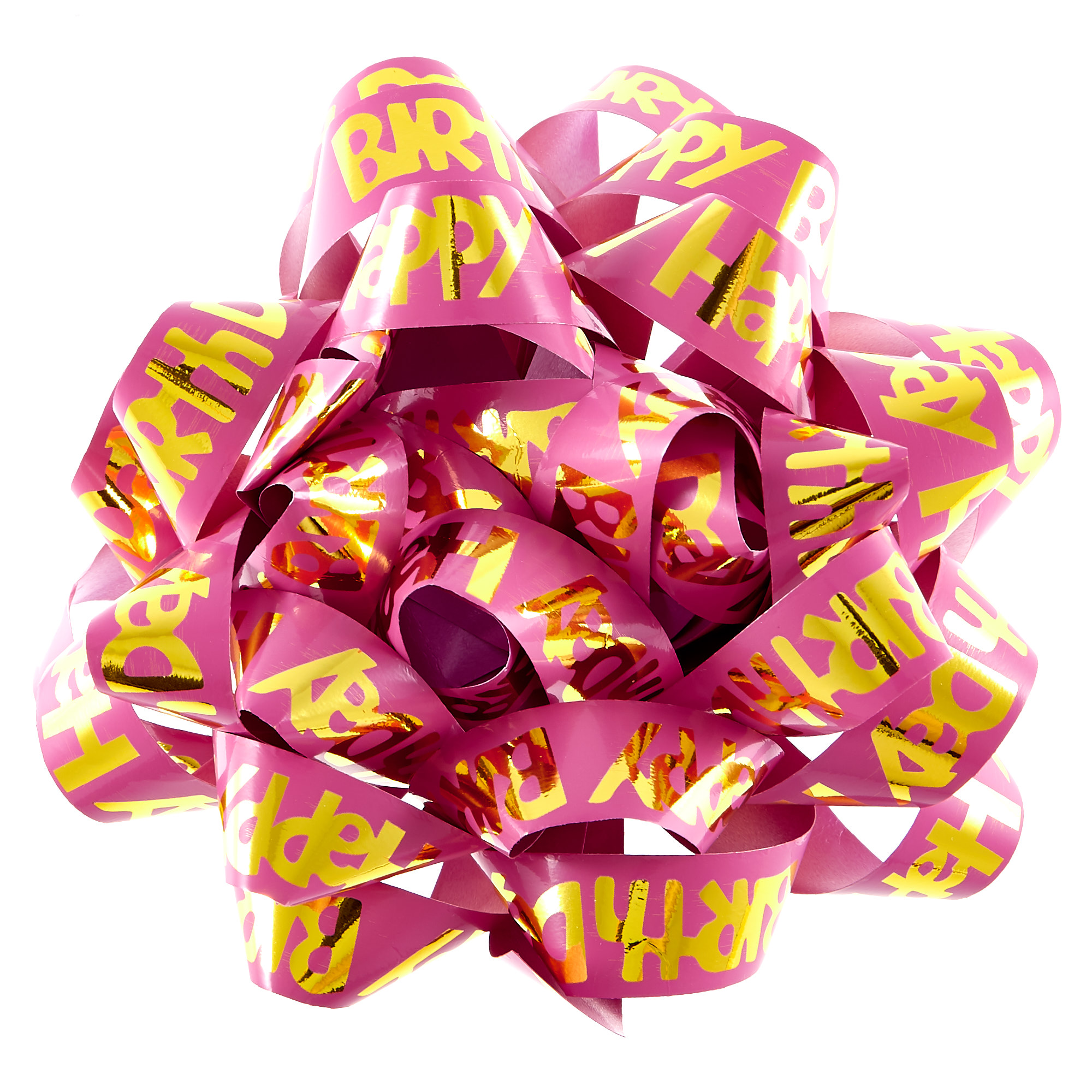 buy giant pink happy birthday gift bow for gbp 099  card