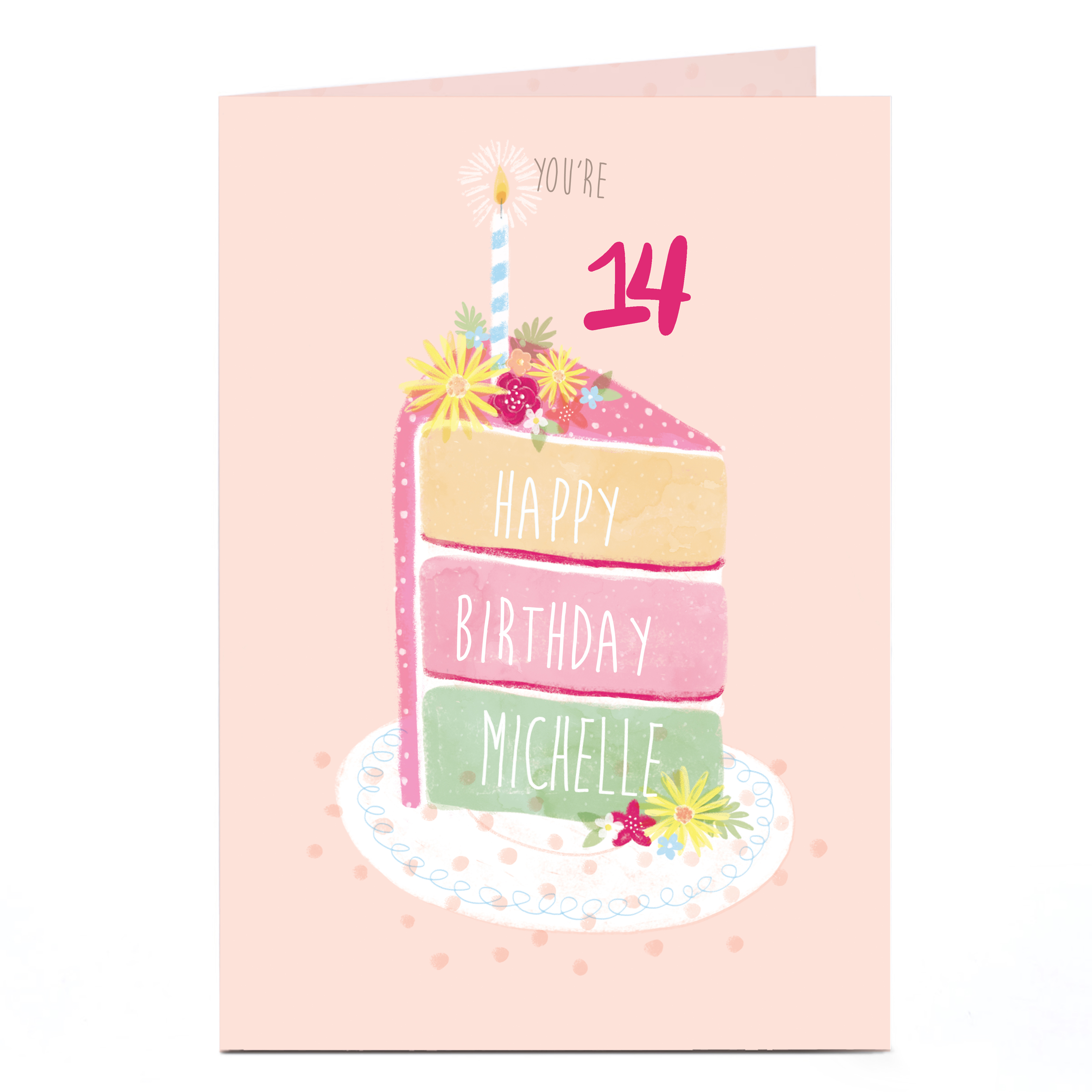 Personalised Any Age Birthday Card - Piece Of Cake