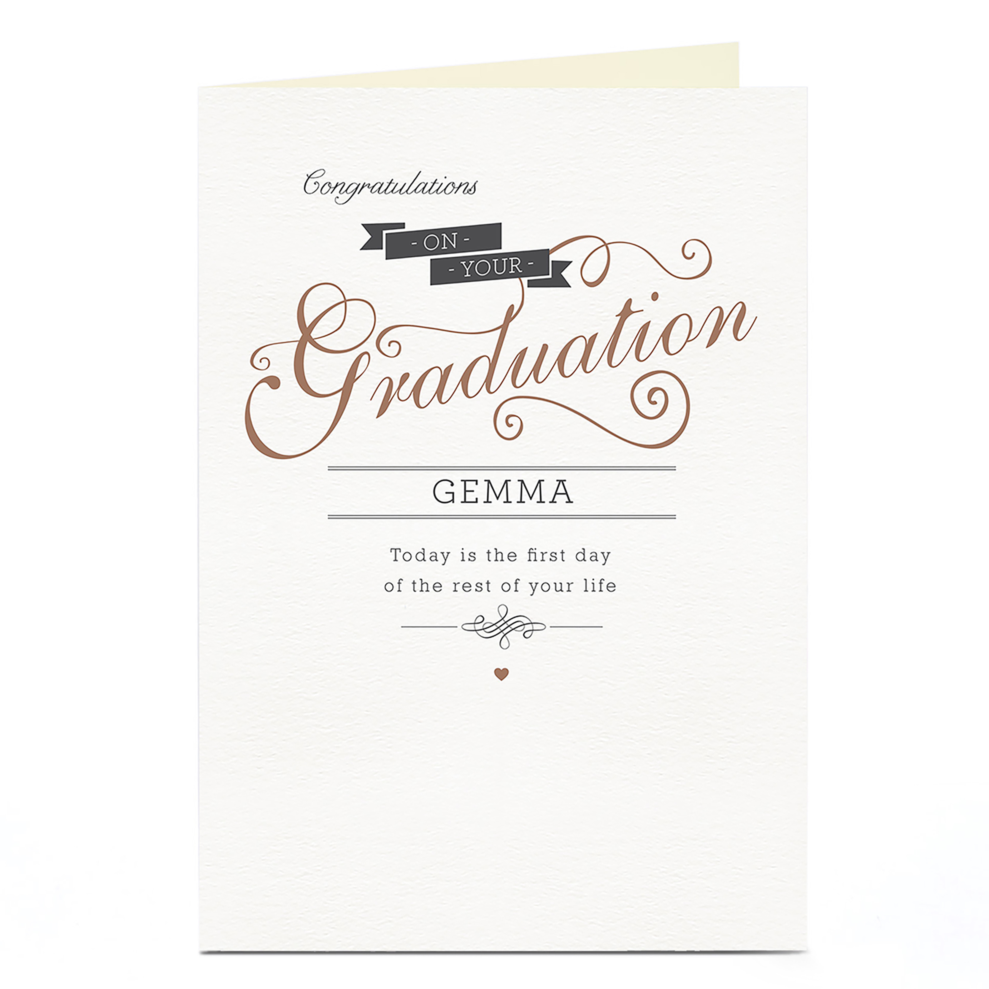 Personalised Graduation Card - Today Is The First Day...