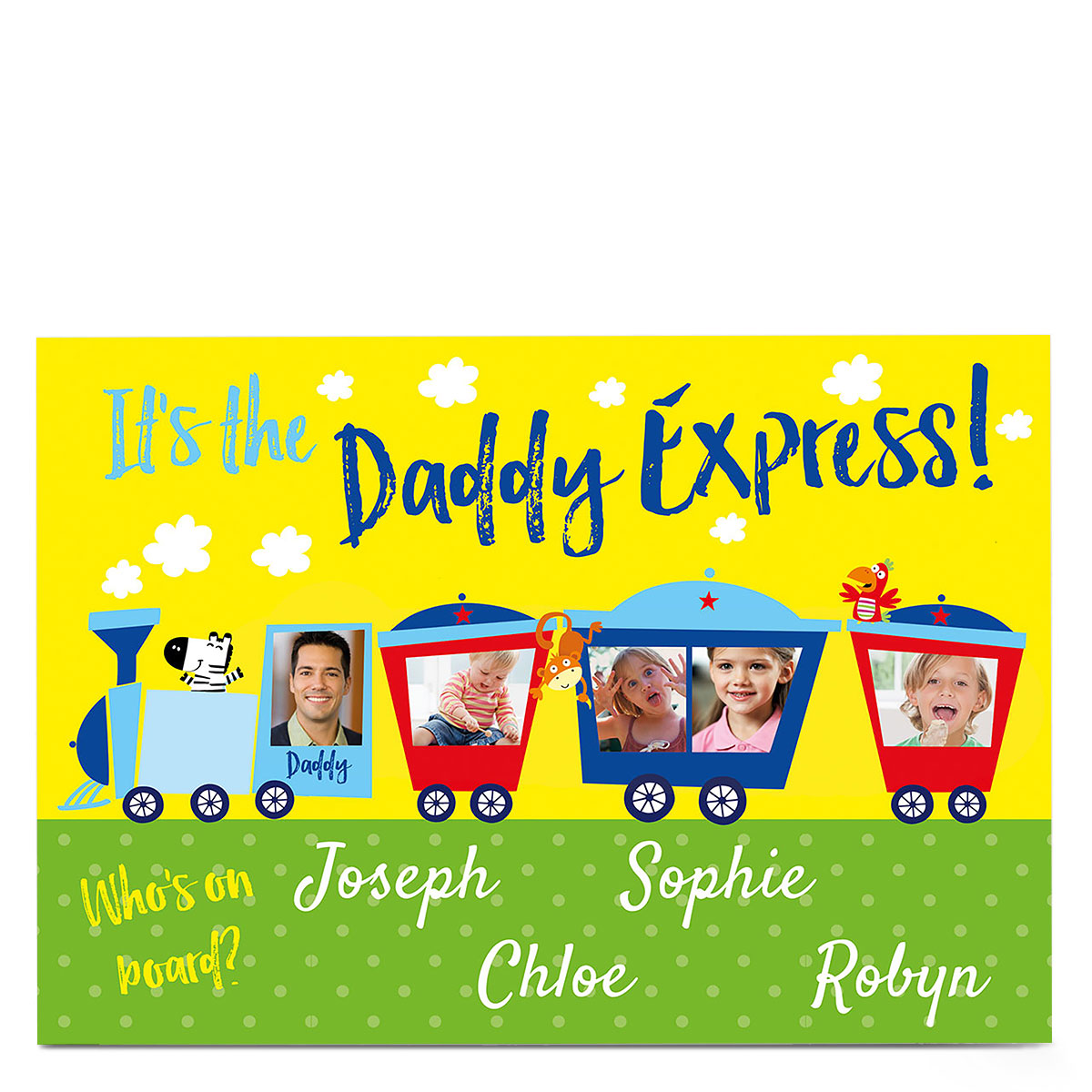 Photo Card - The Daddy Express - Four Names