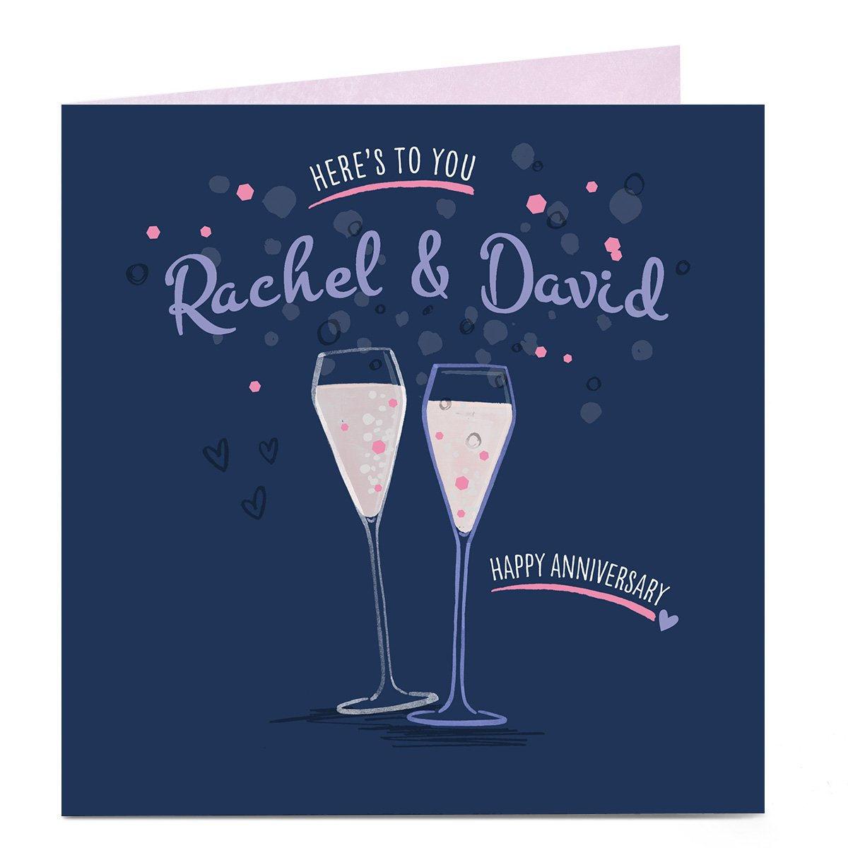 Personalised Anniversary Card - Here's To You