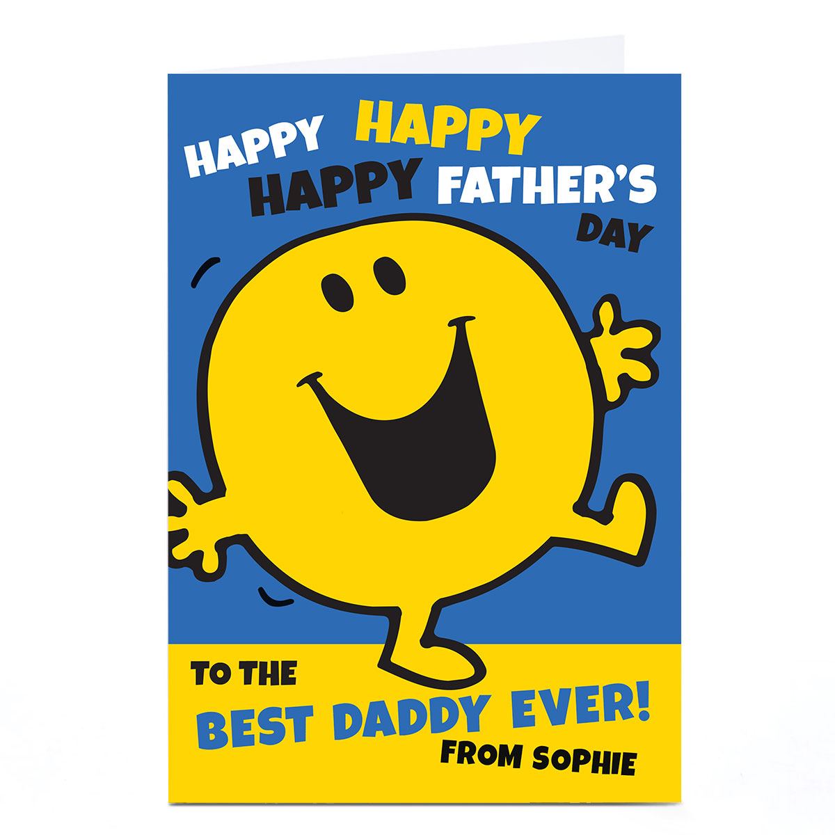 Personalised Mr.Men Father's Day Card - Happy Happy Happy
