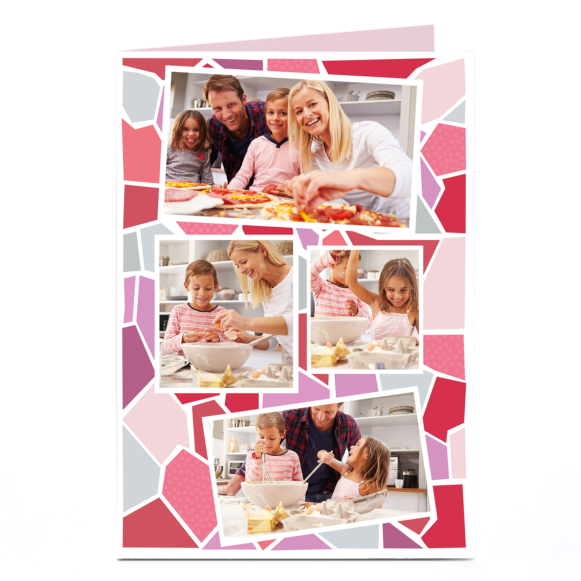 Photo Card - Pink Large Mosaic
