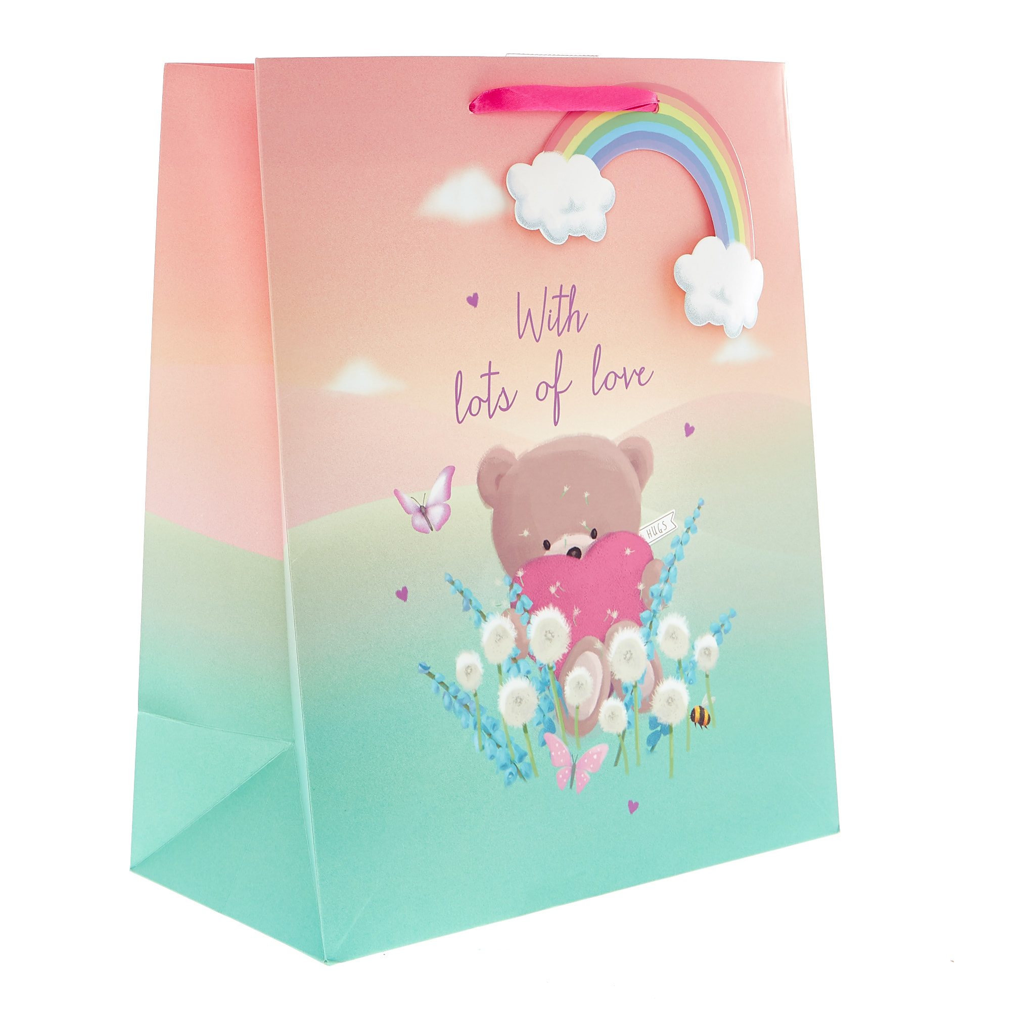 Medium Portrait Lots Of Love Hugs Bear Gift Bag