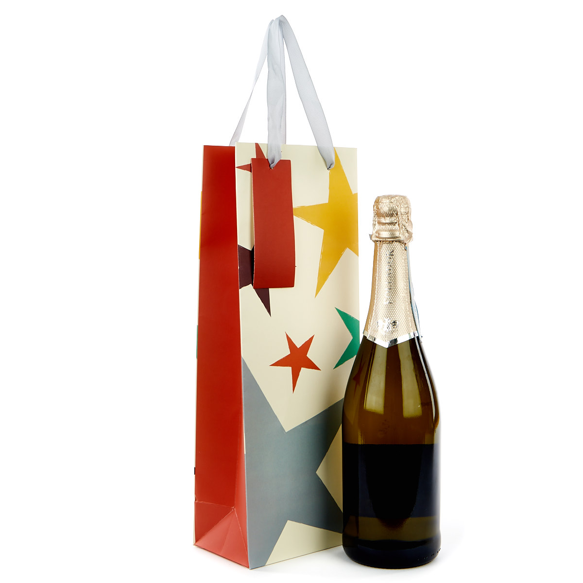 Buy Bottle Gift Bag Coloured Stars For Gbp 0 99 Card Factory Uk