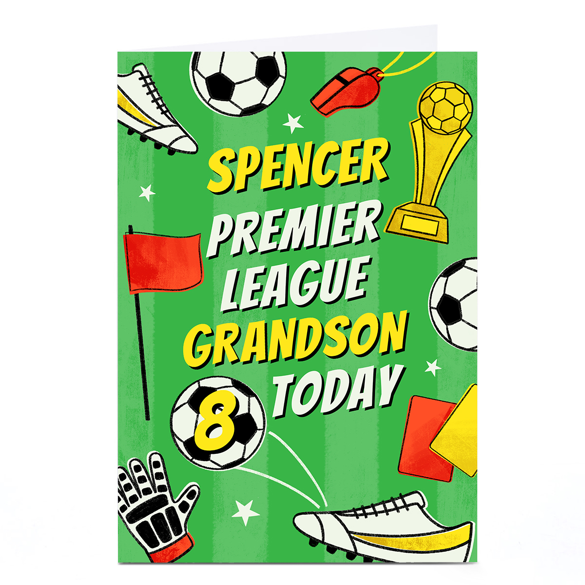 Personalised Birthday Card - Premier League