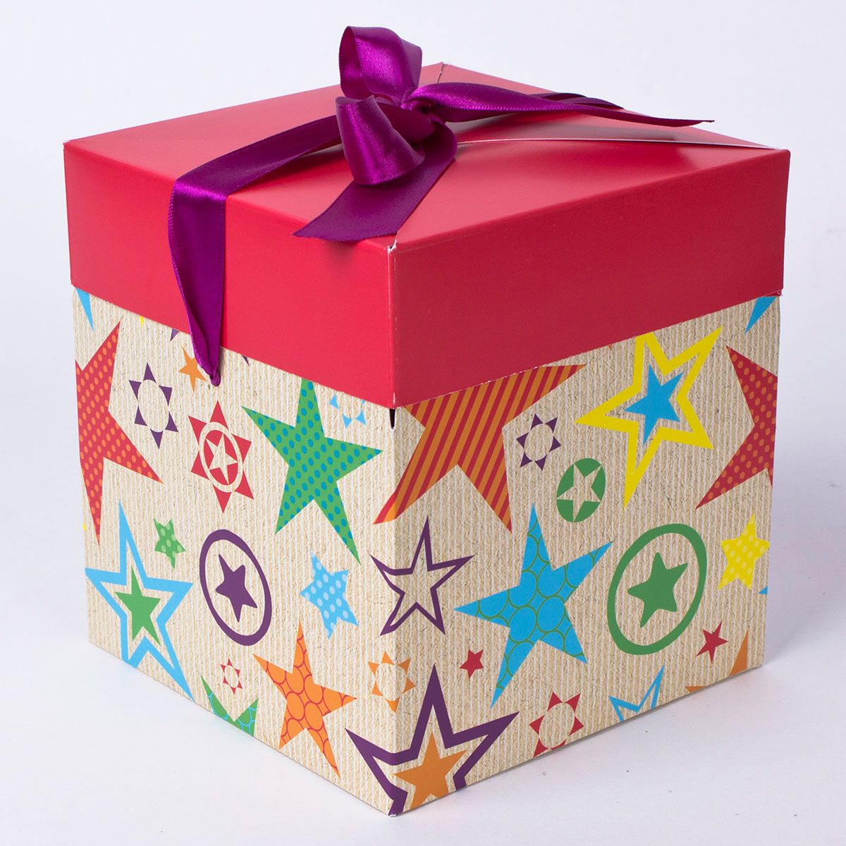 buy luxury gift box  large square flat packed for gbp 0