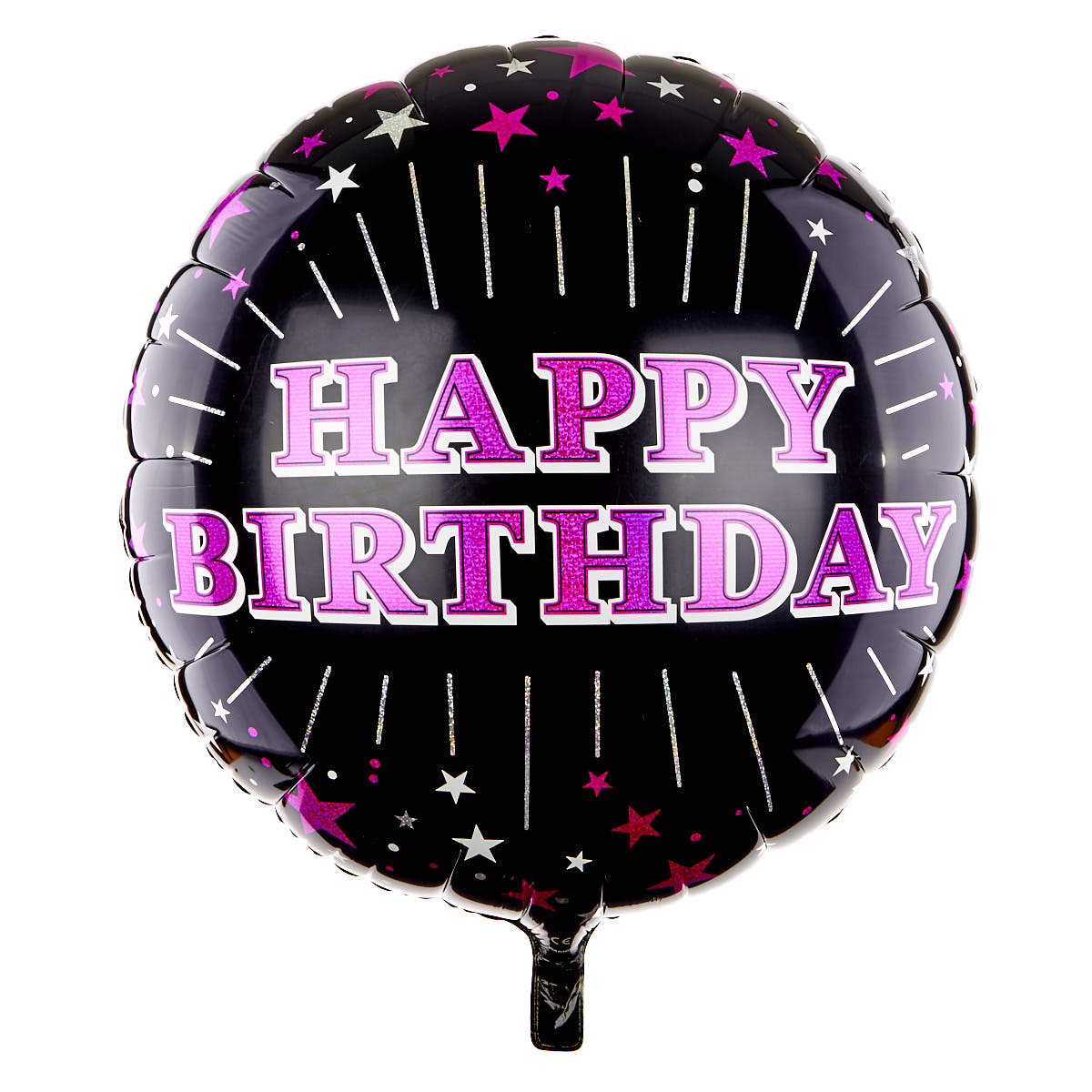 Black & Pink Foil Birthday Balloons