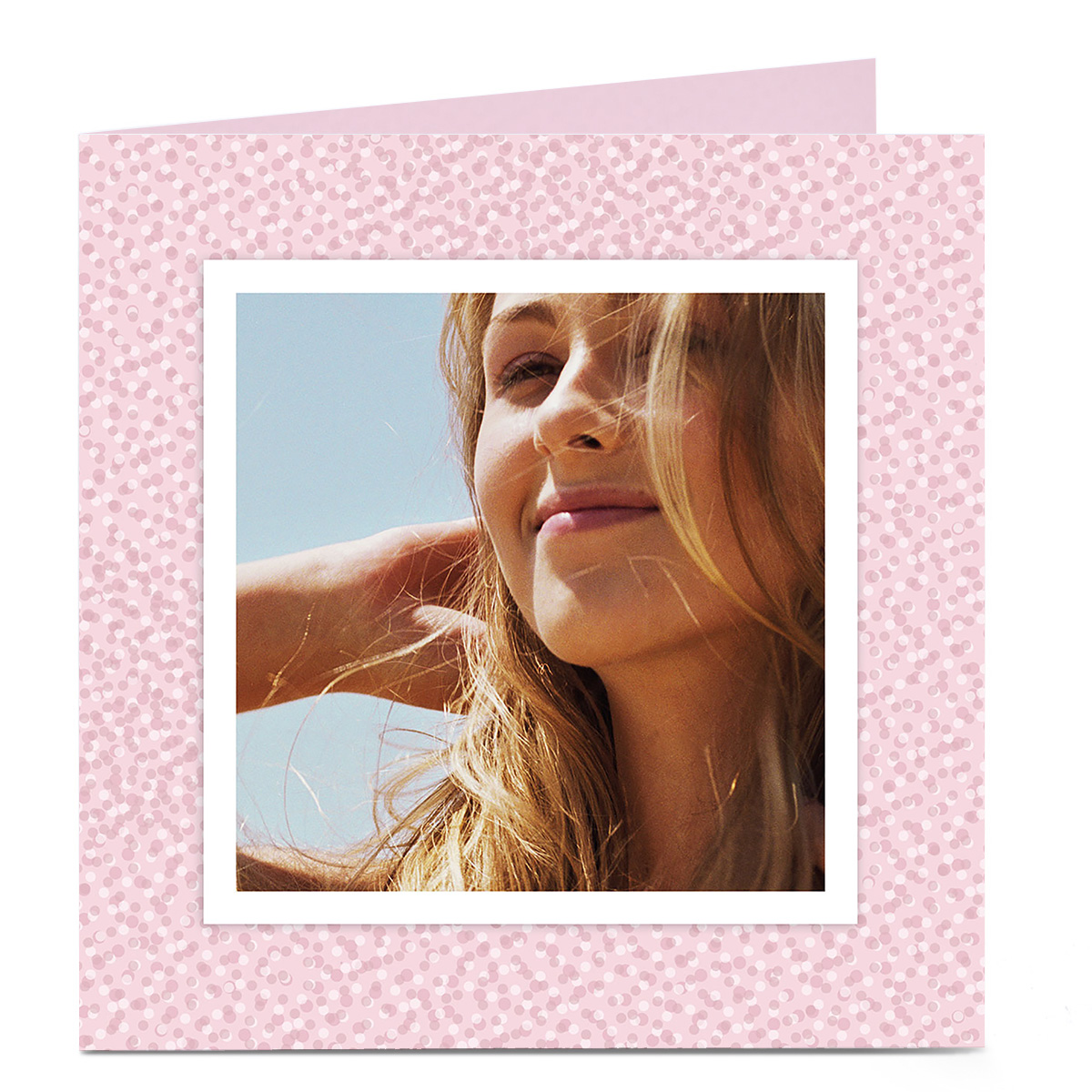 Photo Card - Pink & White Dots