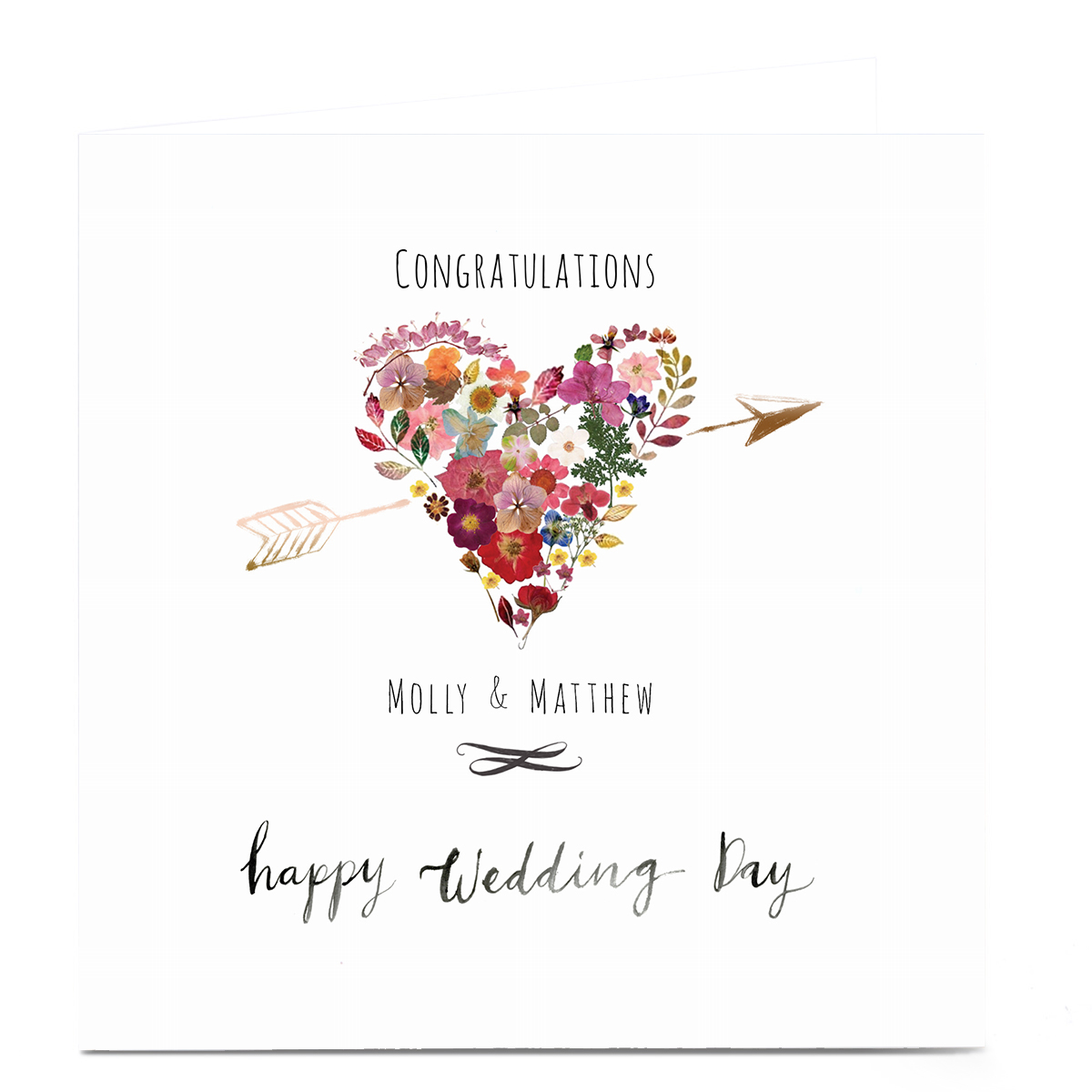 Personalised Emma Valenghi Wedding Card - Heart