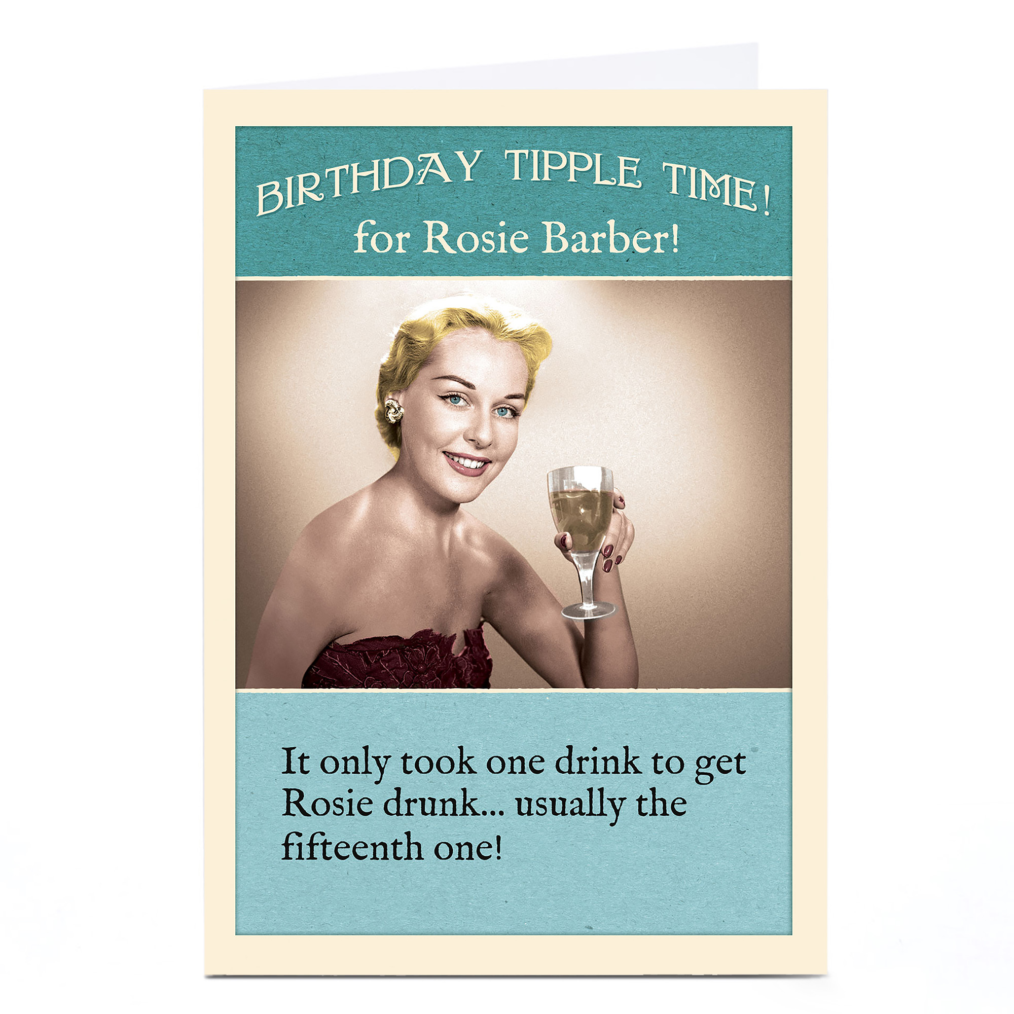 Personalised Madcap Manor Card - Birthday Tipple Time