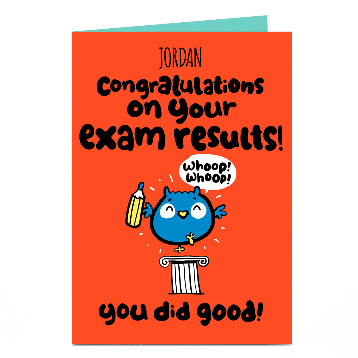 Personalised Fruitloops Congratulations Card - Exam Results