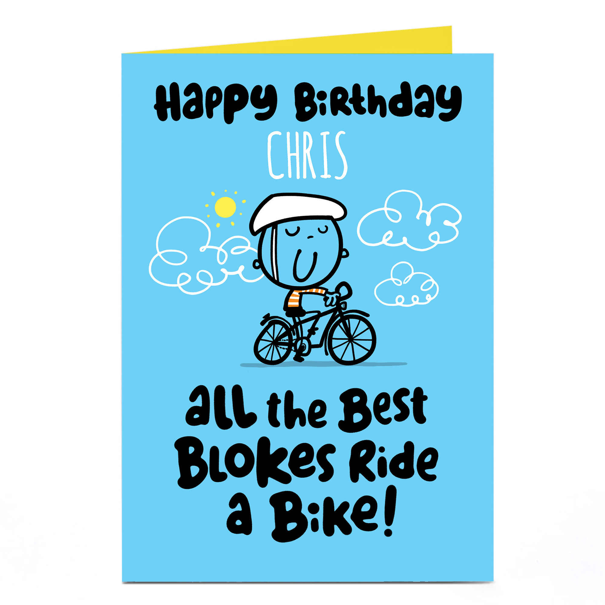 Personalised Fruitloops Birthday Card - Ride A Bike