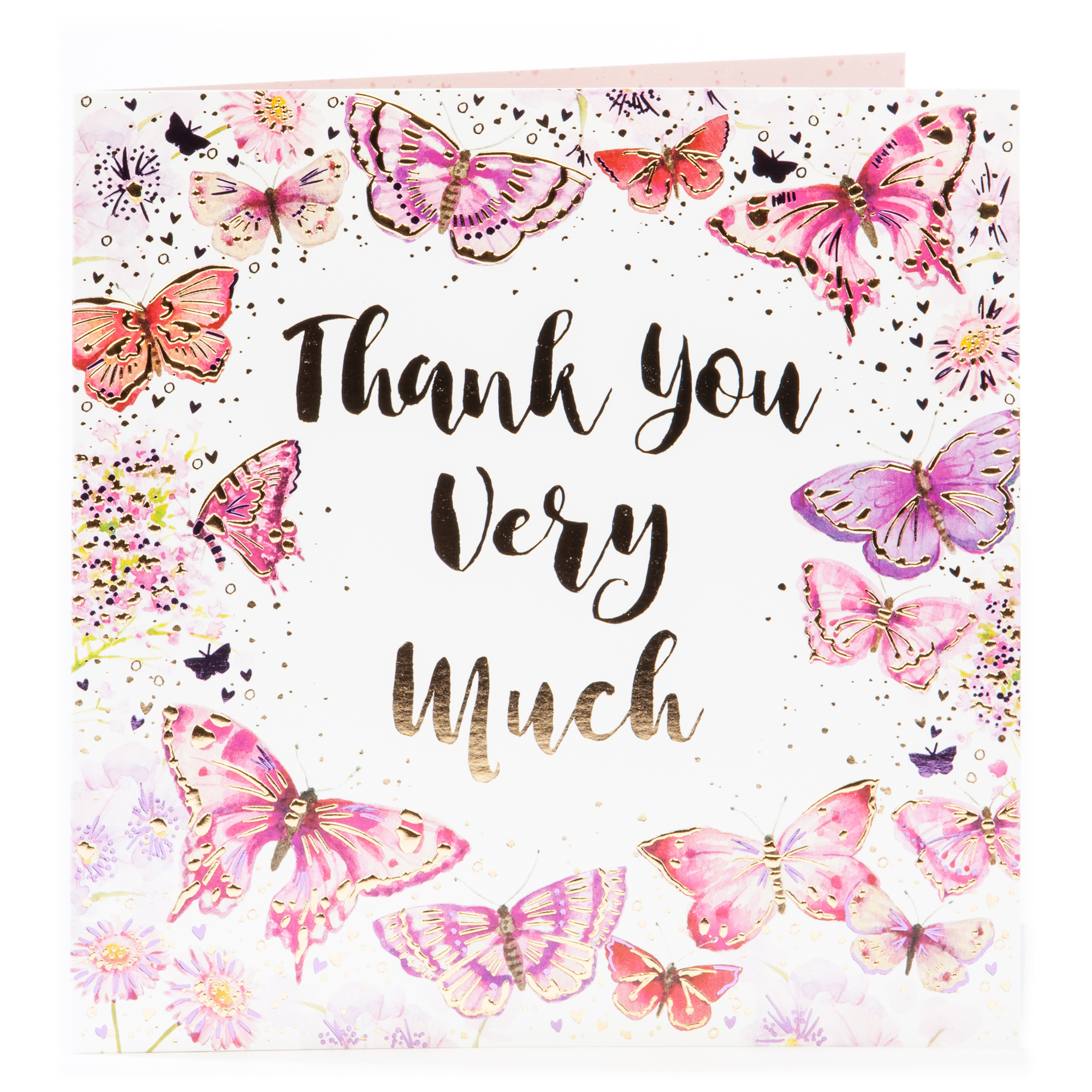 Platinum Collection Thank You Card - Butterflies