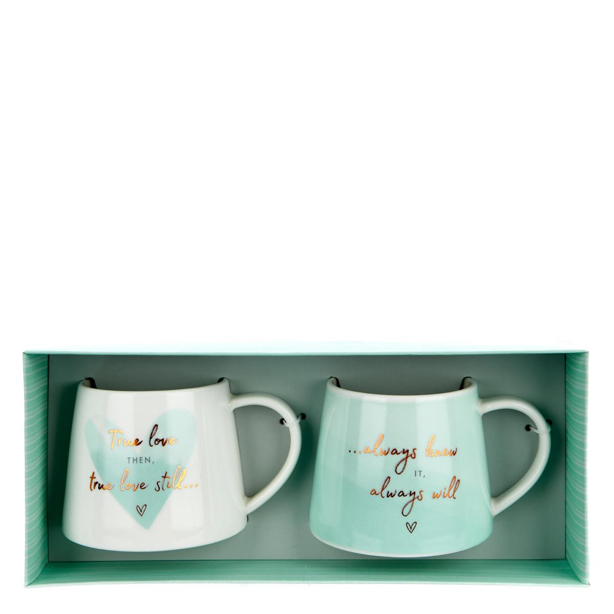 buy perfect together happy anniversary twin mug gift set