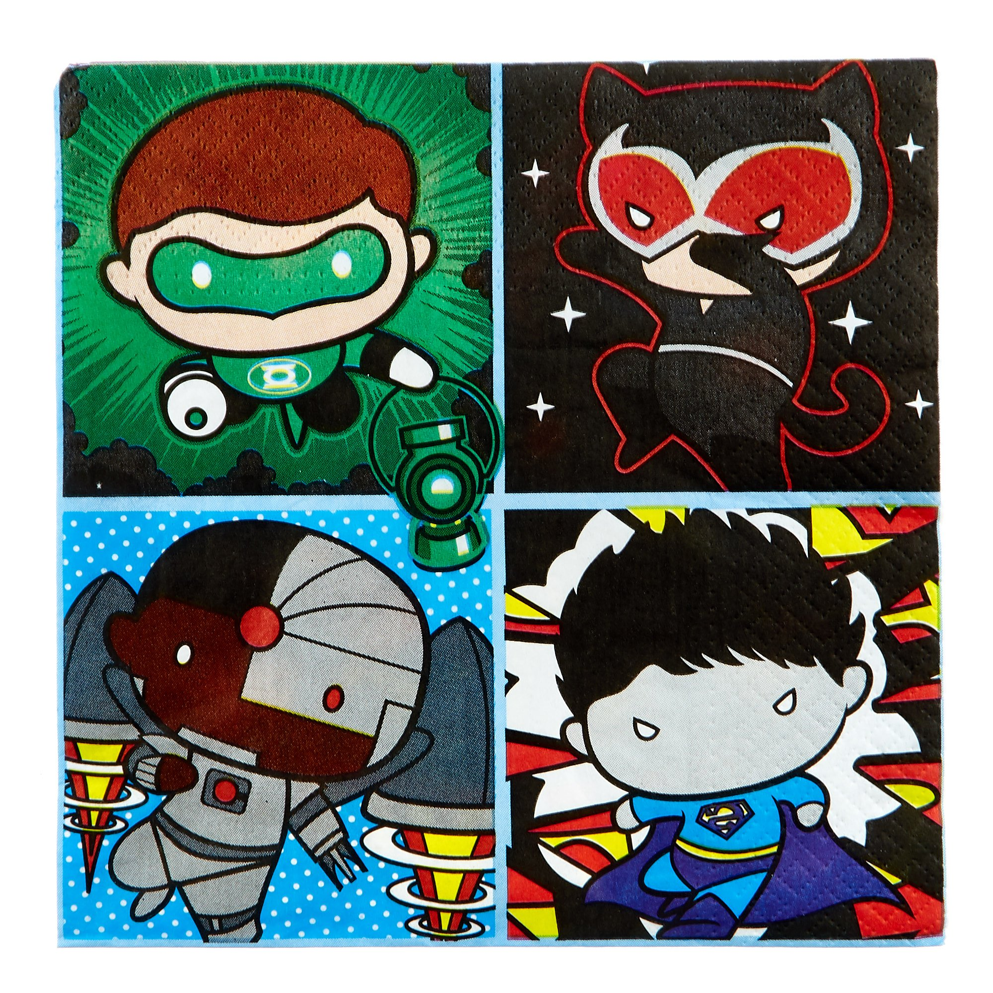 Justice League Party Tableware & Decorations Bundle - 82 Pieces
