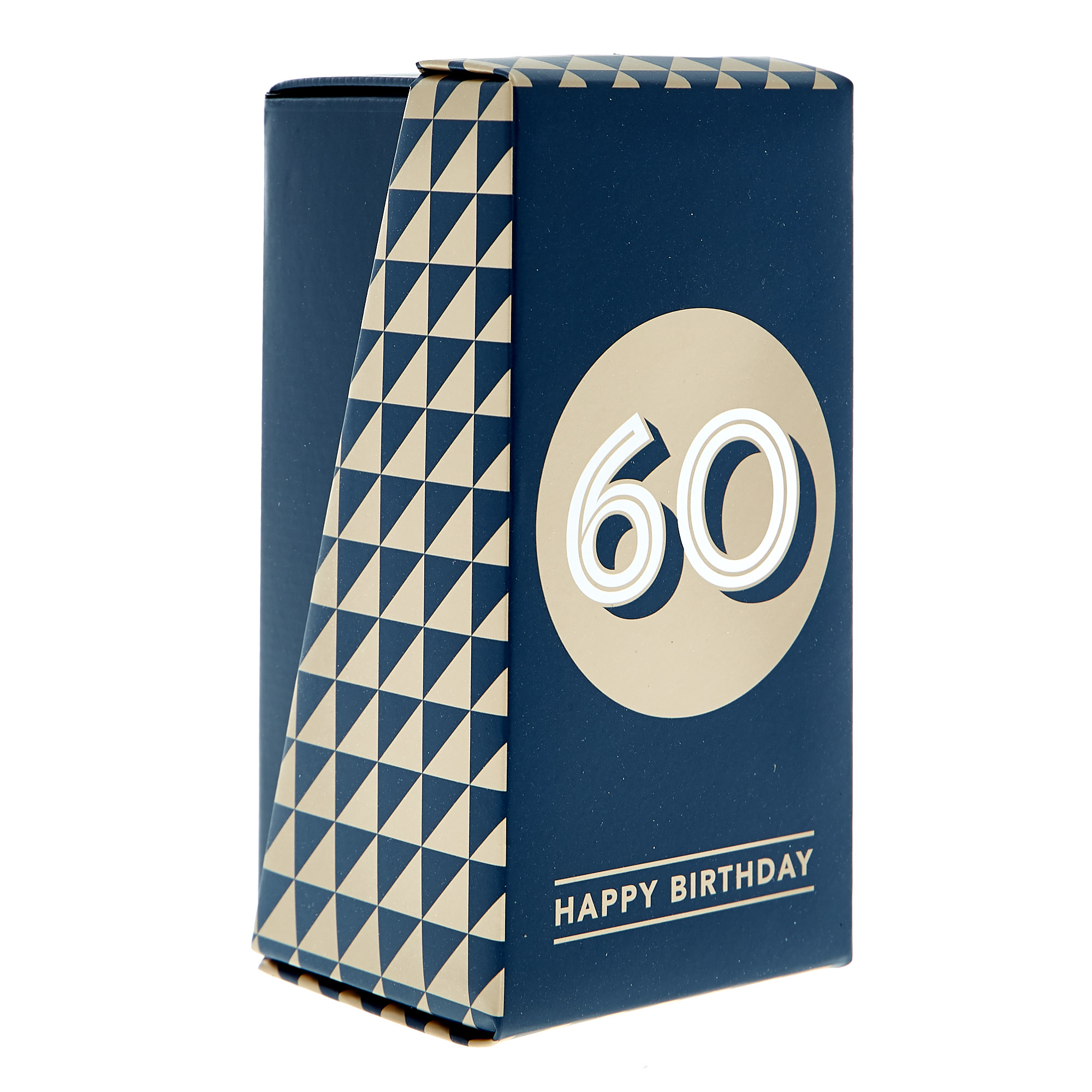 60th Birthday Pint Glass In A Box - Blue & Gold