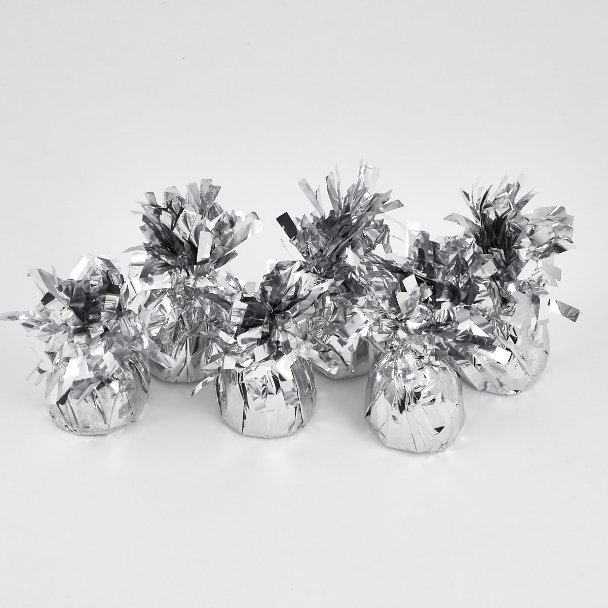 Silver Foil Balloon Weights - Pack of 12