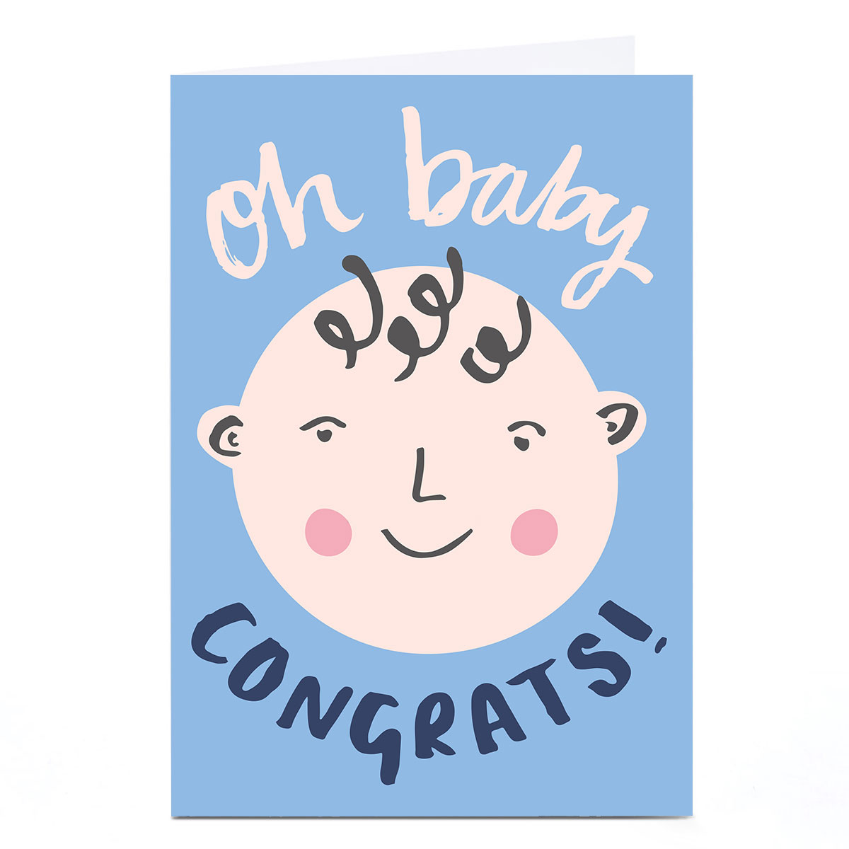 Personalised Ashley Le Quere New Baby Card - Boy