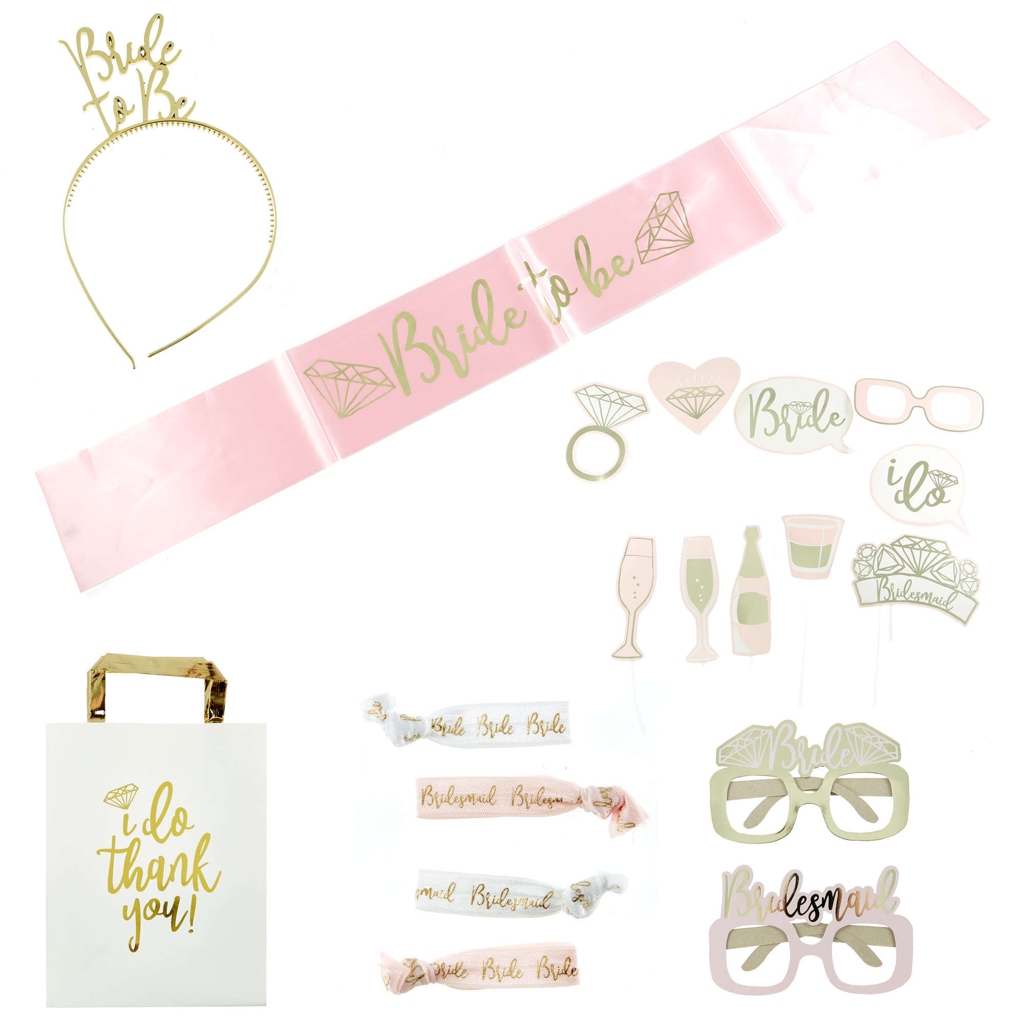Bride To Be Hen Party Party Accessory Bundle - 20 Pieces