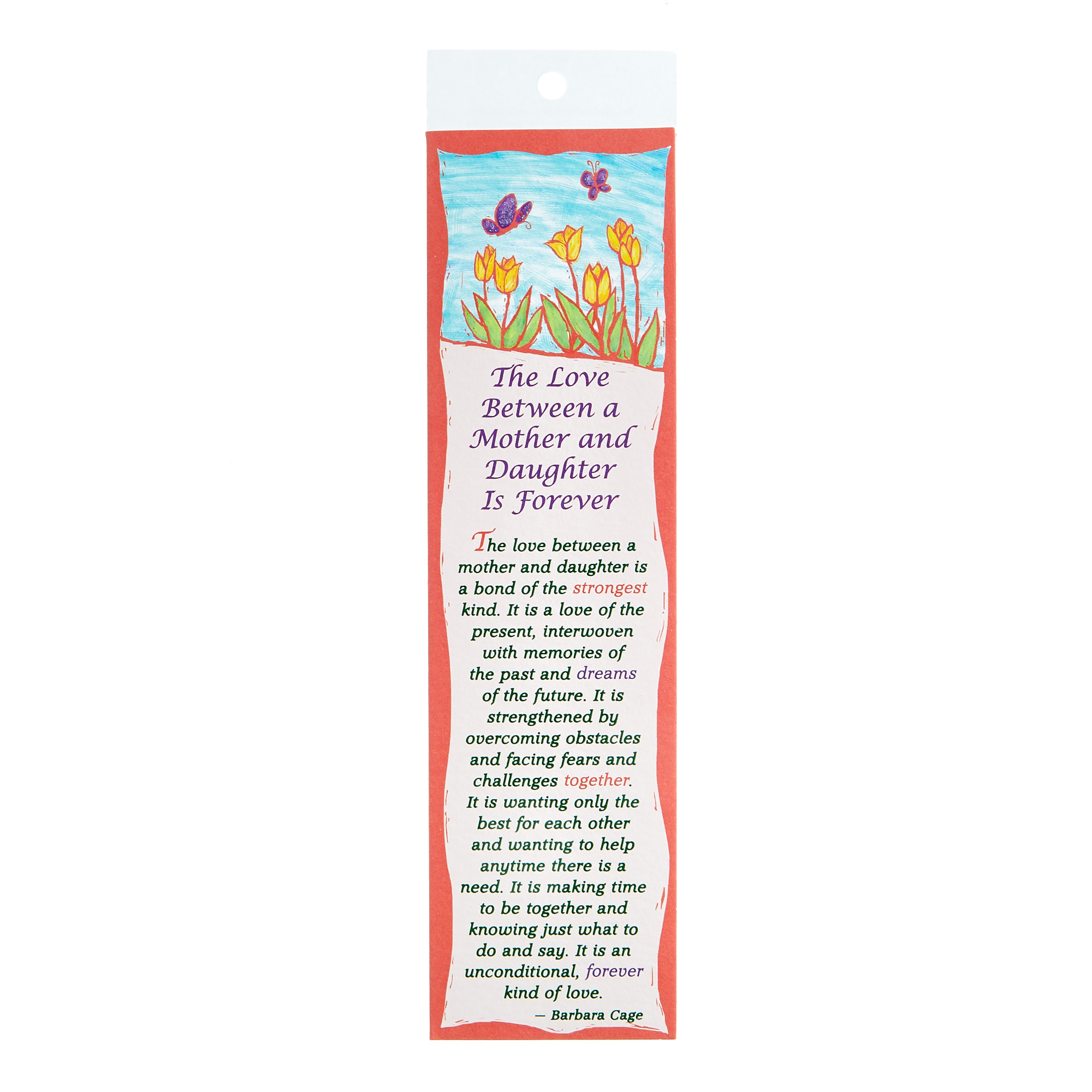 Blue Mountain Arts Bookmark - Love Between A Mother & Daughter
