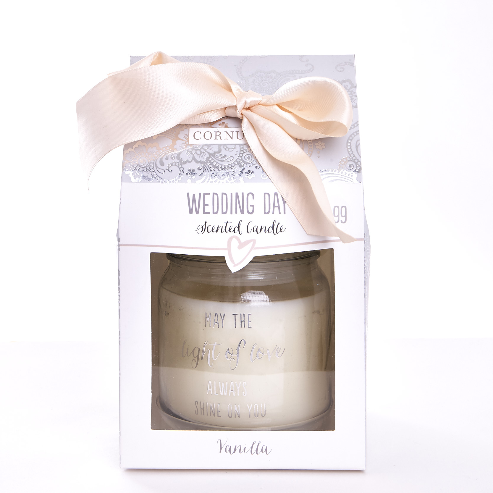 Vanilla Scented Wedding Candle In Gift Box