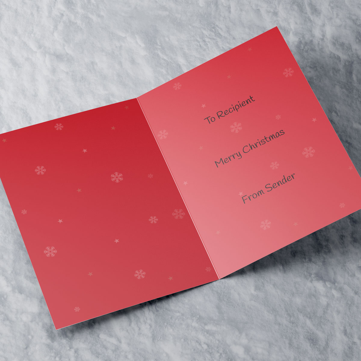 Personalised Christmas Card - Have A Wonderful Day