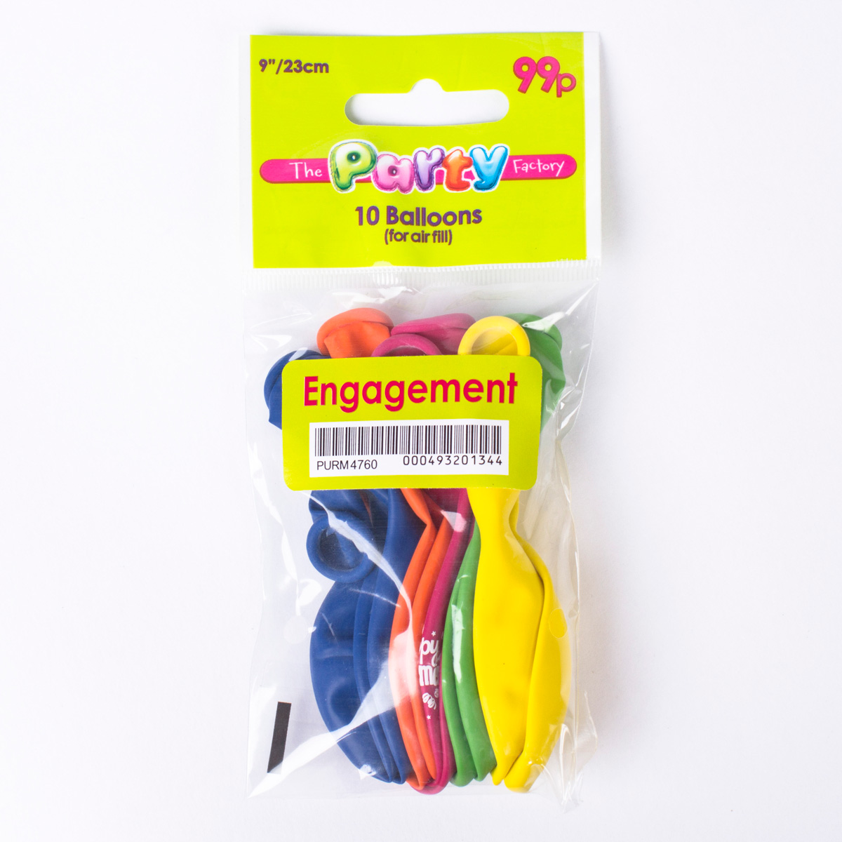 Multicoloured Happy Engagement Small Latex Balloons, Pack Of 10