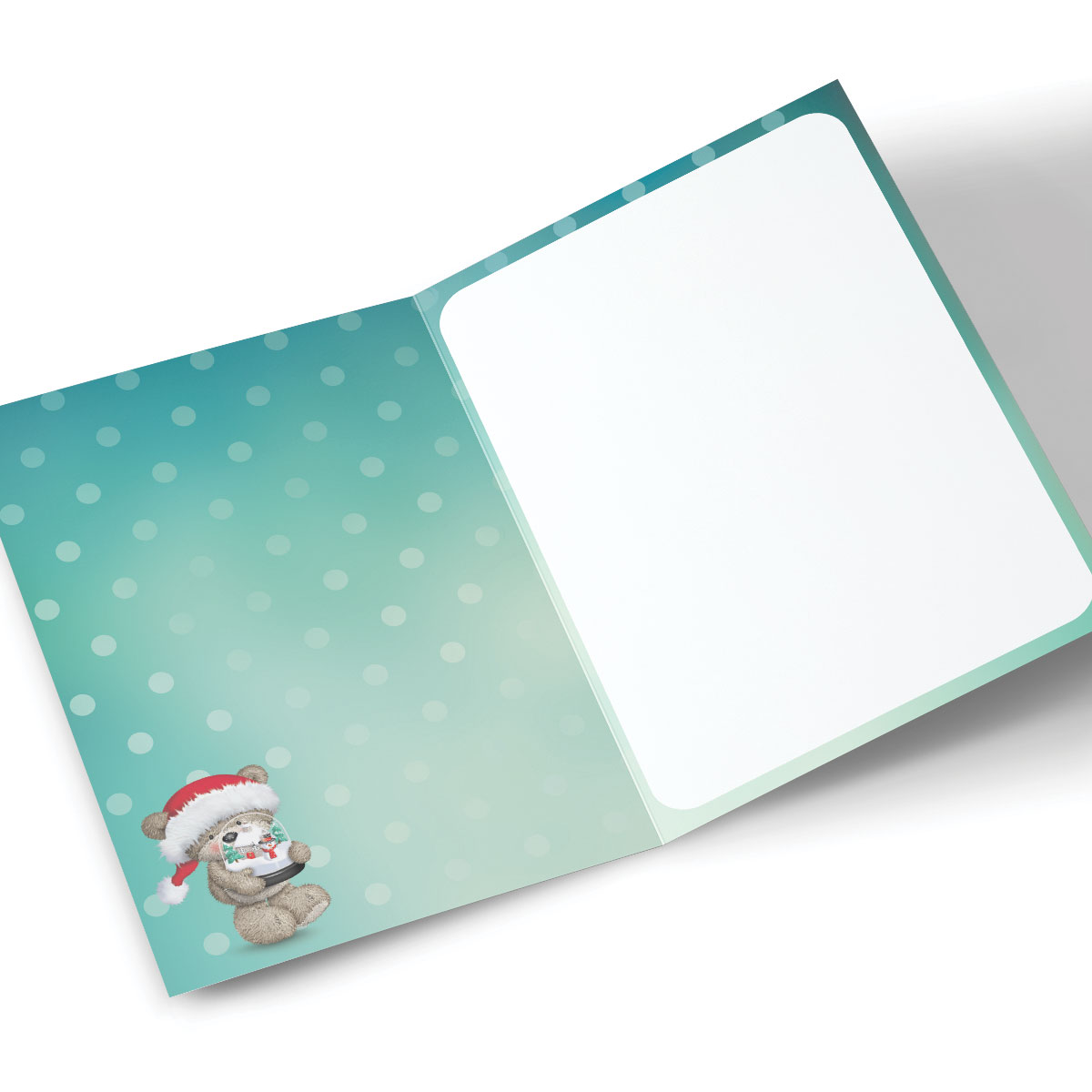 Hugs Personalised Christmas Card - Bear And Snow Globe